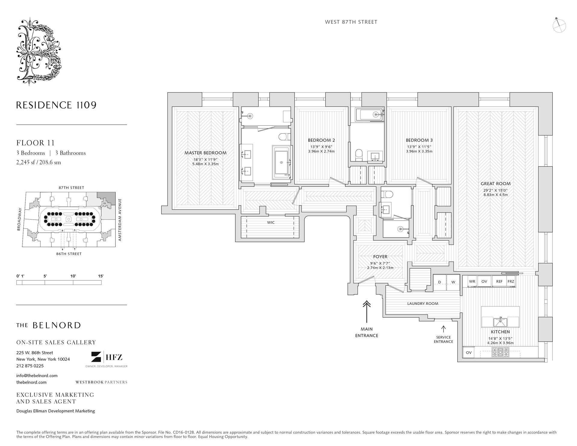 Floor plan of The Belnord, 225 West 86th St, 1109 - Upper West Side, New York