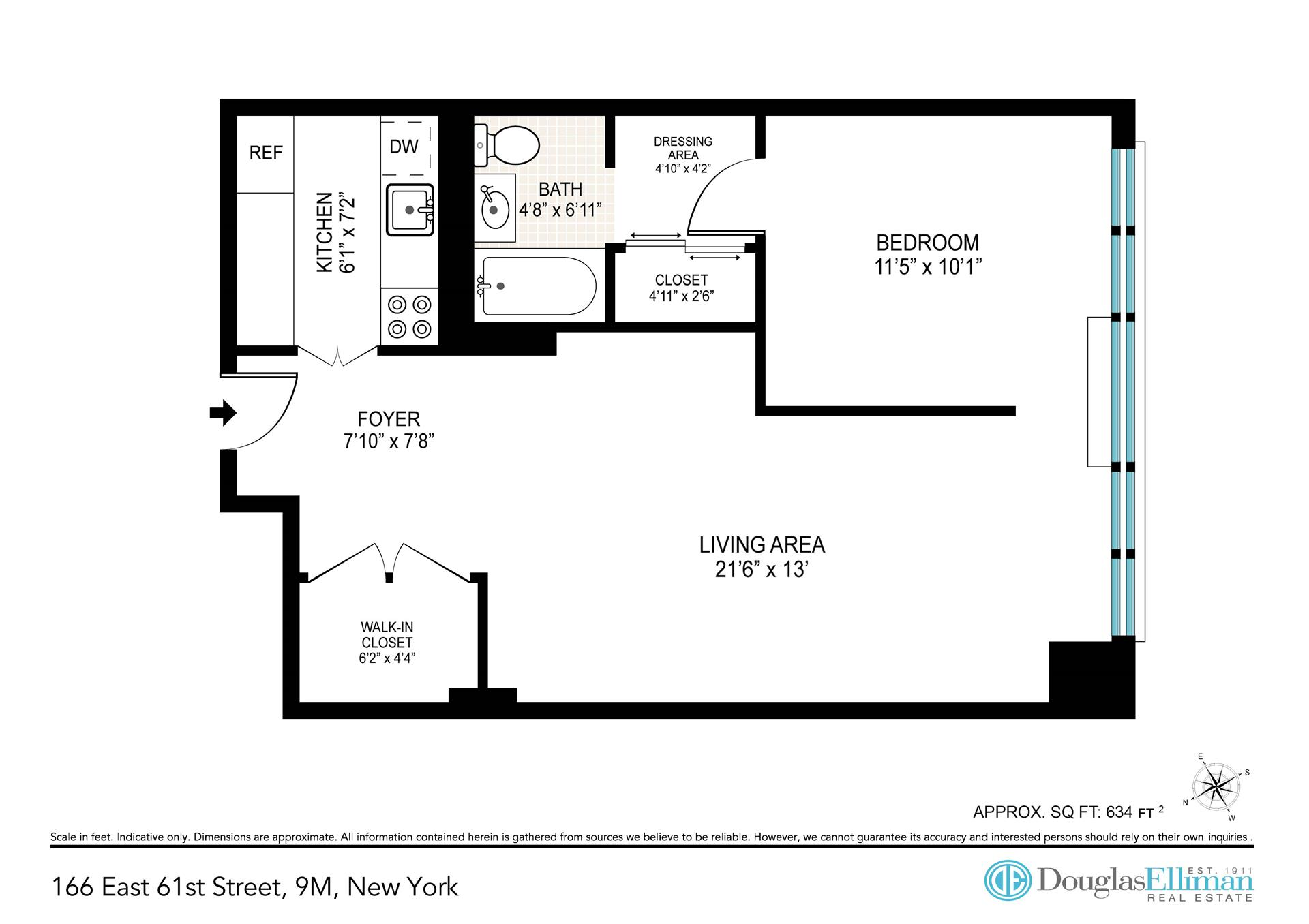 Floor plan of 166 EAST 61 ST CORP, 166 East 61st St, 9M - Upper East Side, New York