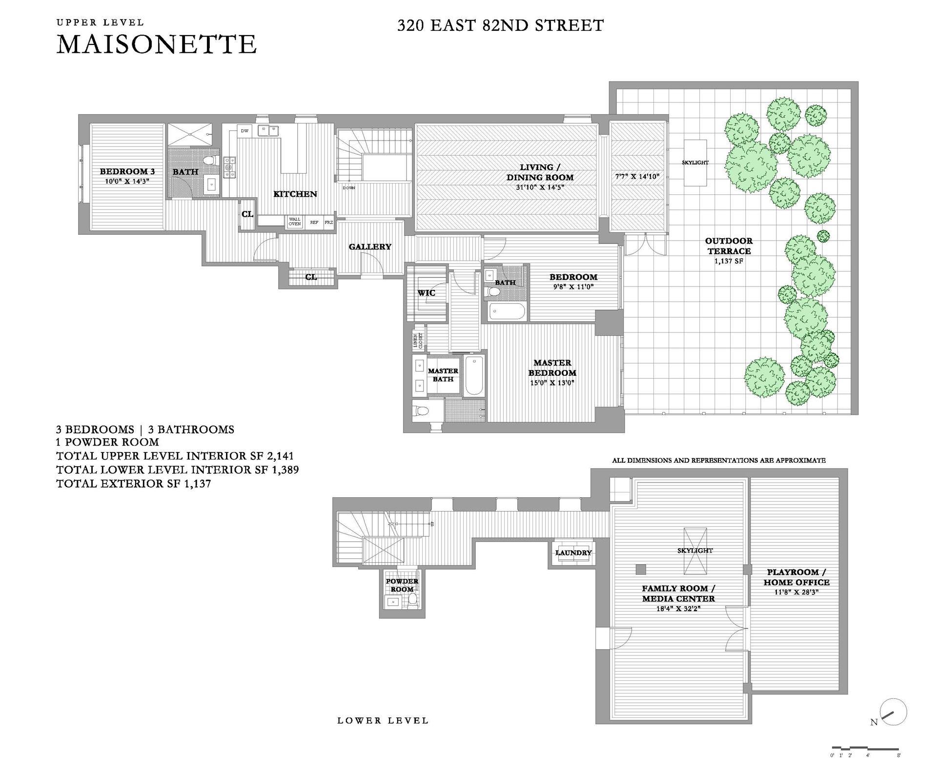 Floor plan of 320 East 82nd St, MAISONETTE - Upper East Side, New York