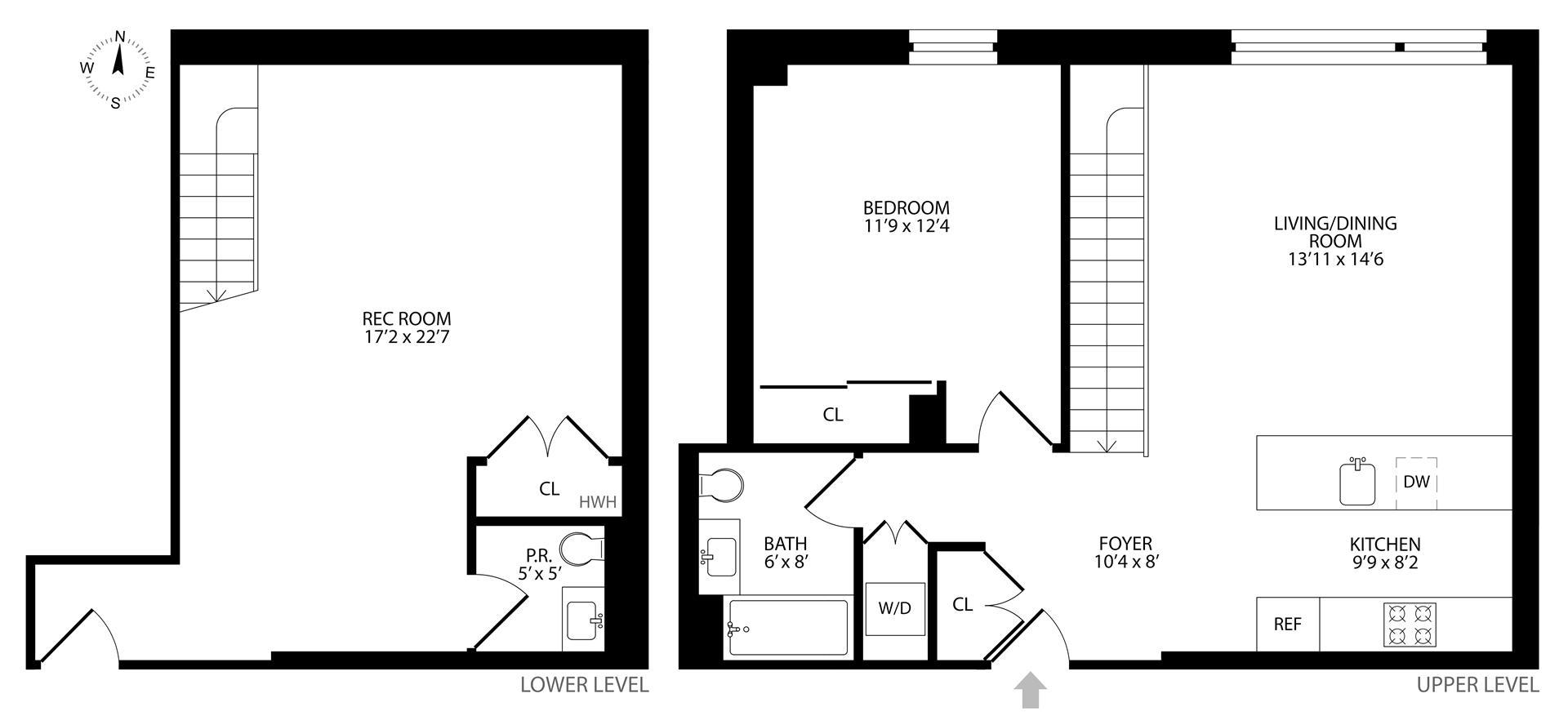 Floor plan of 204 Monroe St, 1B - Bedford - Stuyvesant, New York