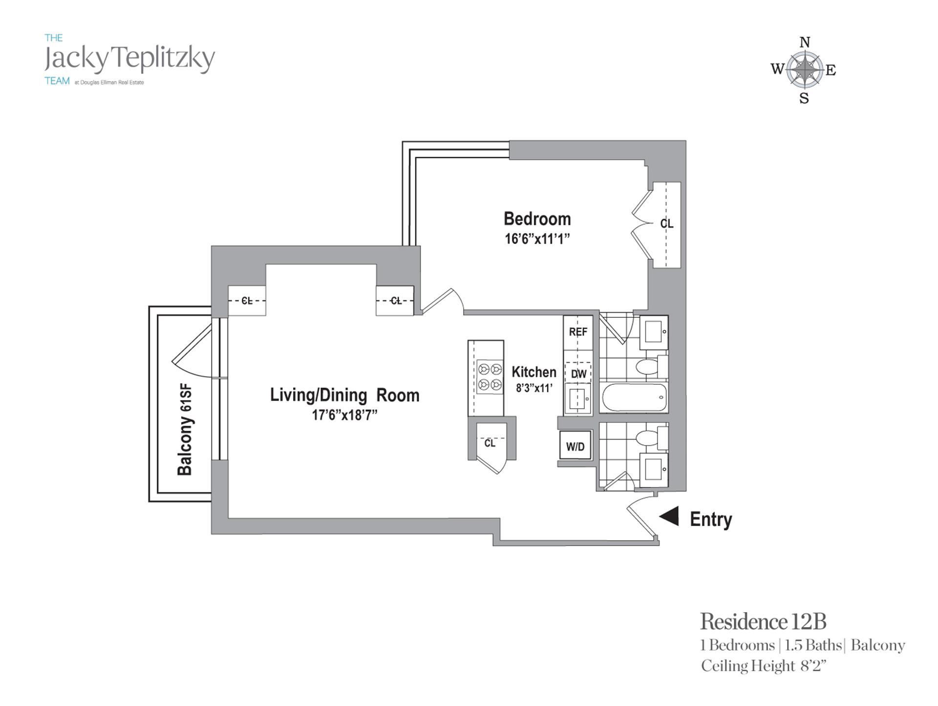 Floor plan of Maison East, 1438 Third Avenue, 12B - Upper East Side, New York