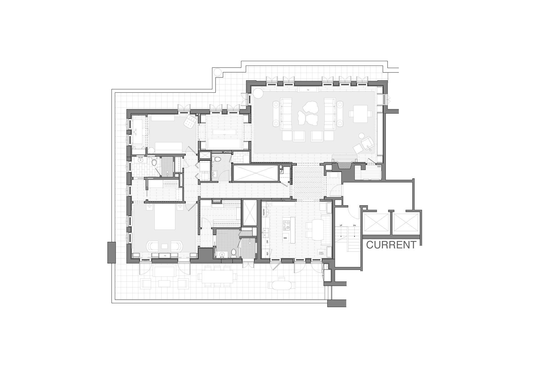Floor plan of 410 West 24th St, PHA - Chelsea, New York