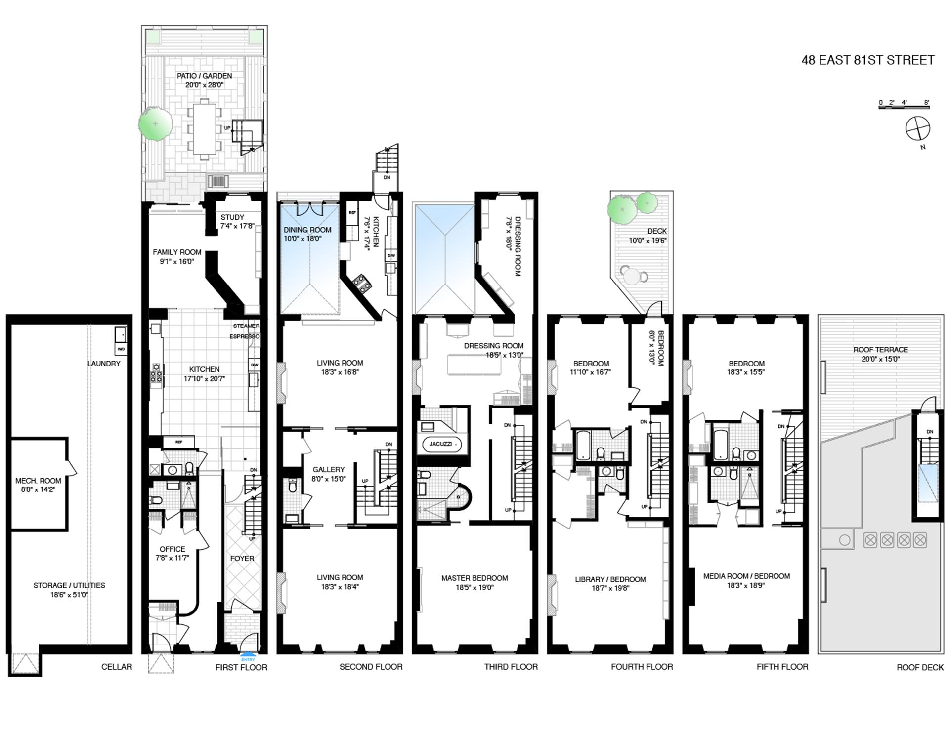 Floor plan of 48 East 81st St - Upper East Side, New York