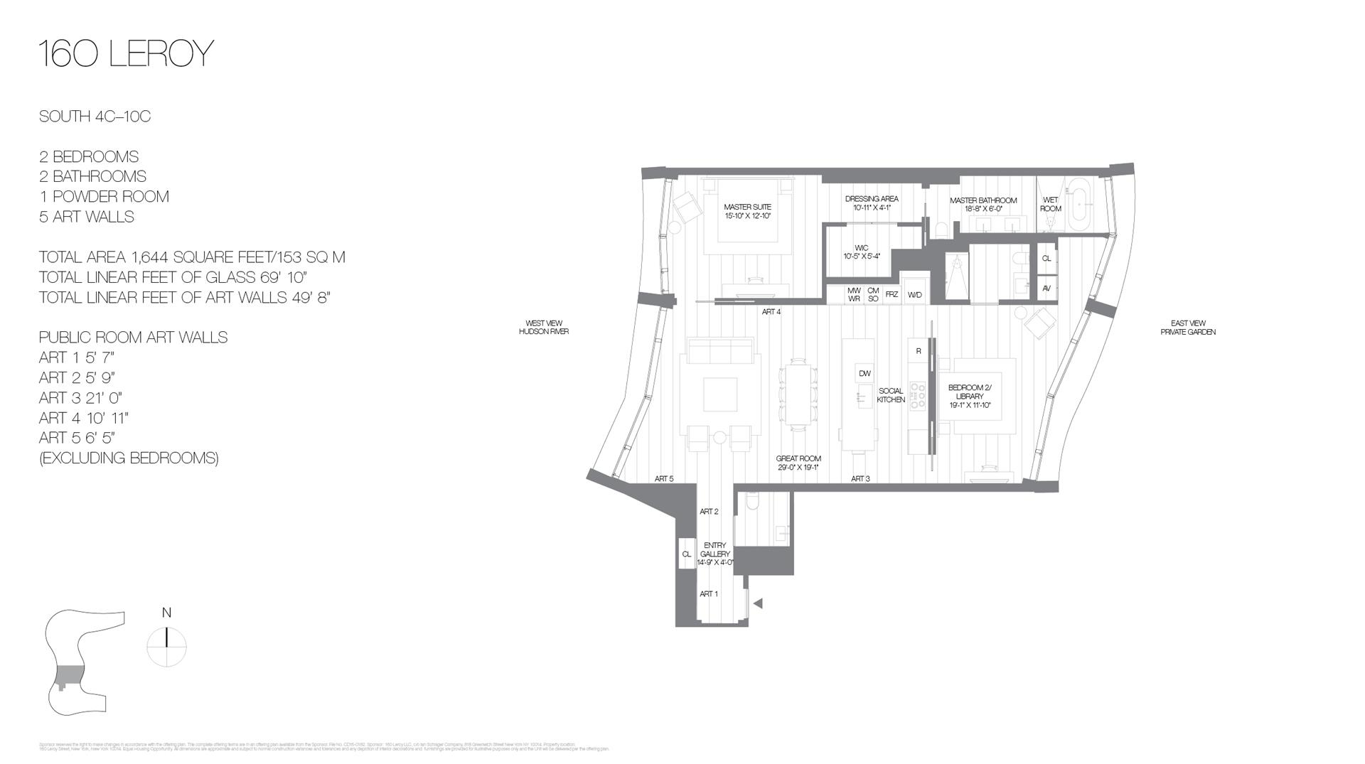 Floor plan of 160 Leroy St, SOUTH8C - West Village - Meatpacking District, New York