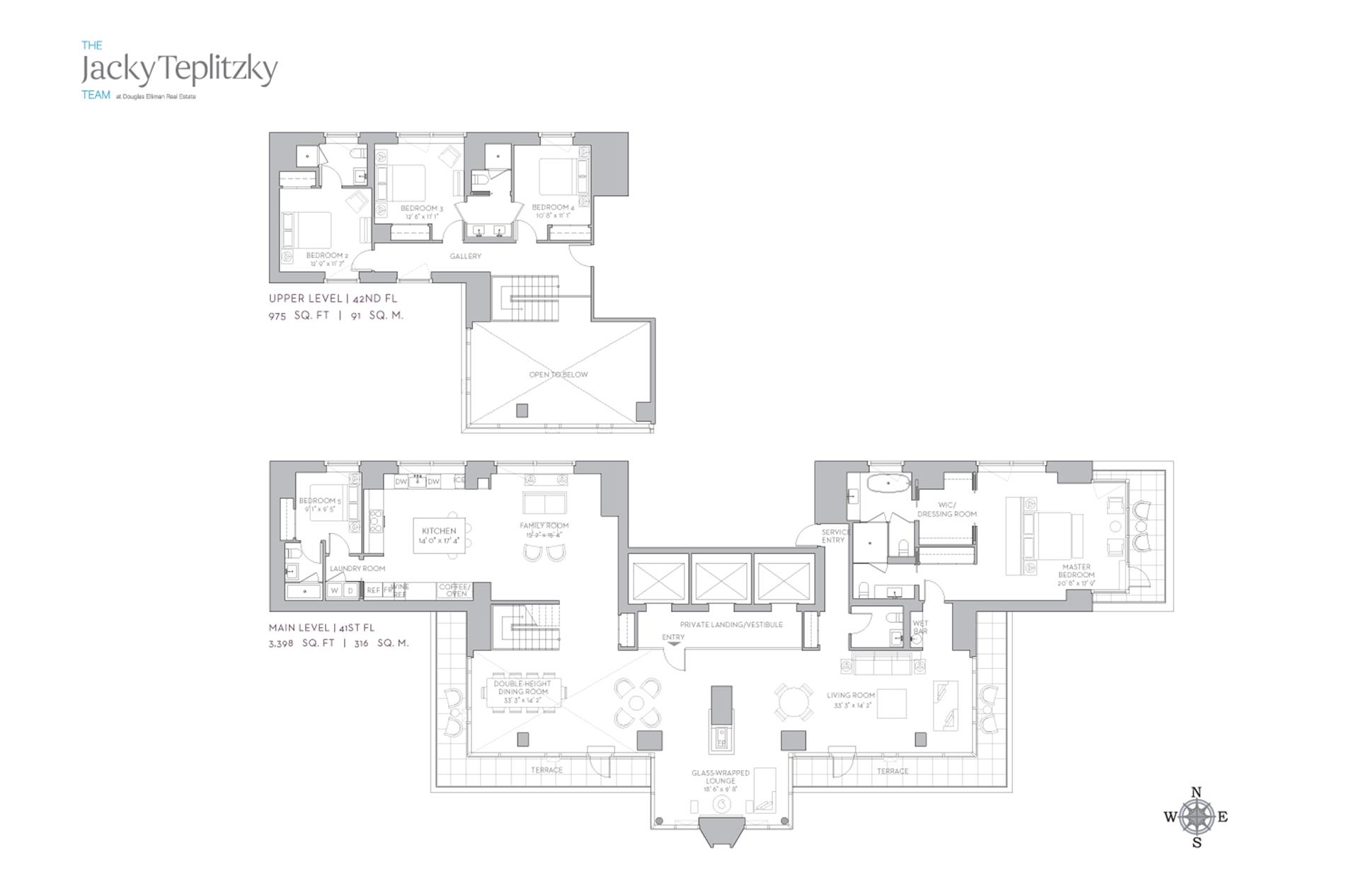 Floor plan of 135 West 52nd St, PH5 - Midtown, New York