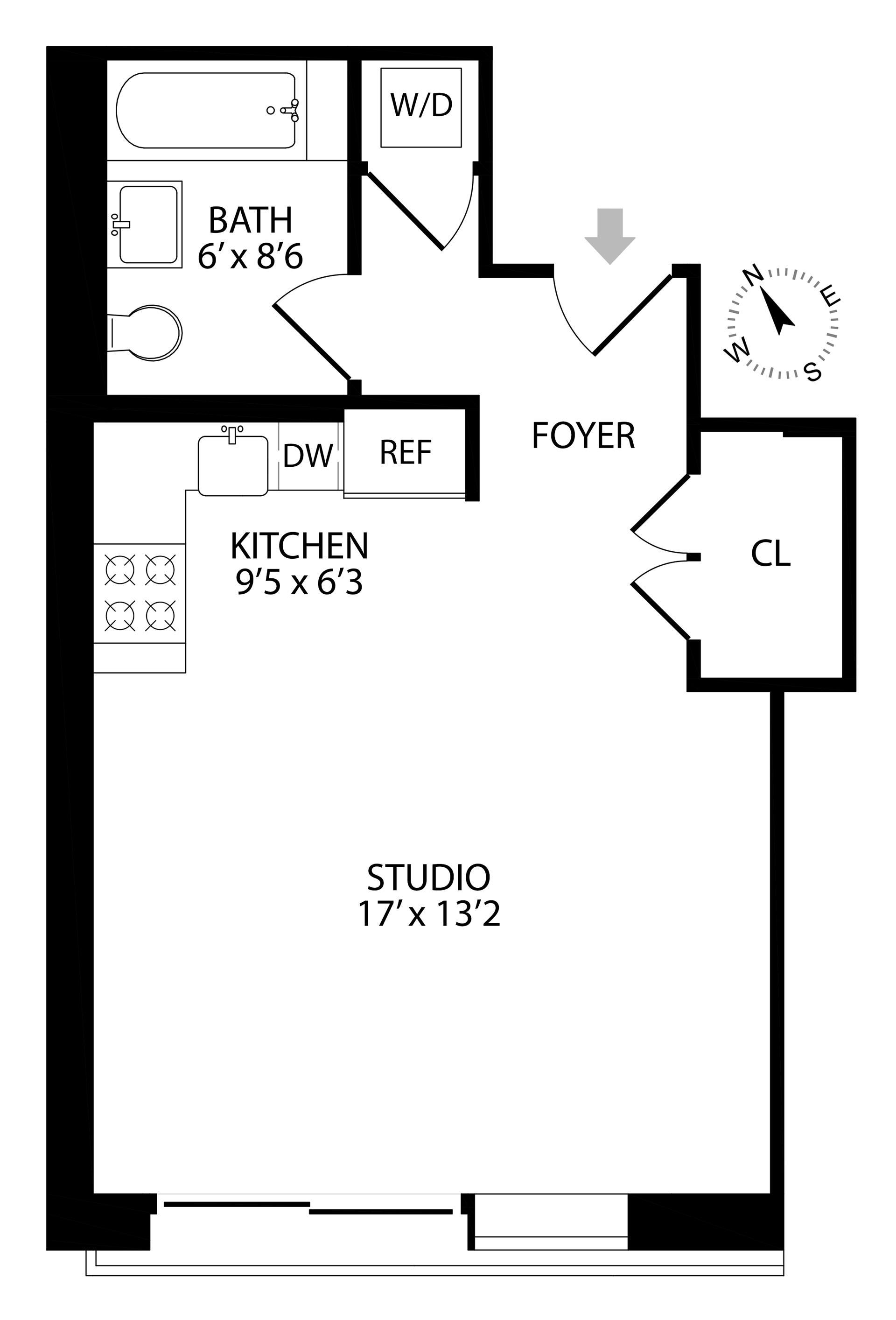 Floor plan of 267 Evergreen Avenue, 2A - Bushwick, New York