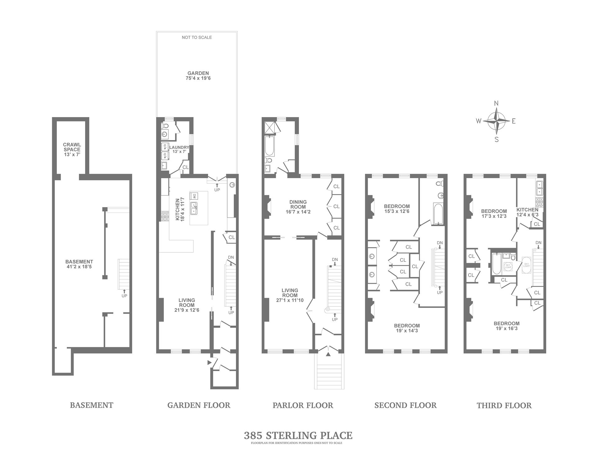 Floor plan of 385 Sterling Pl - Prospect Heights, New York