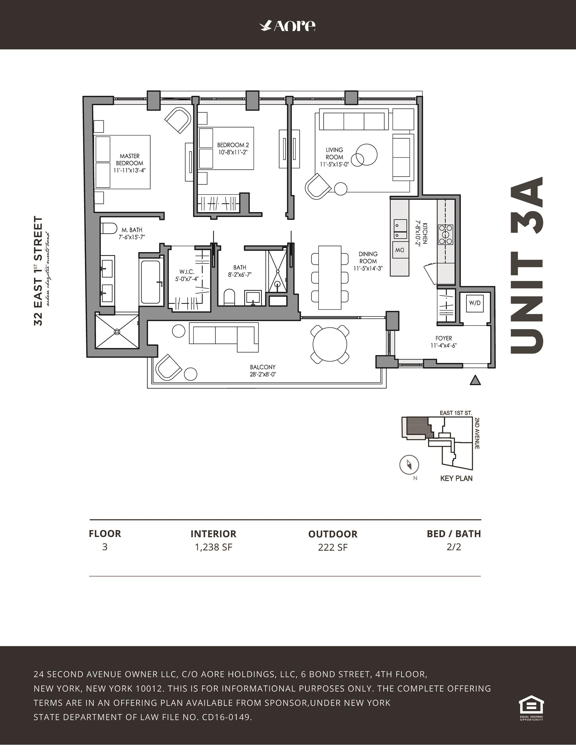 Floor plan of 32 East 1st St, 3A - East Village, New York