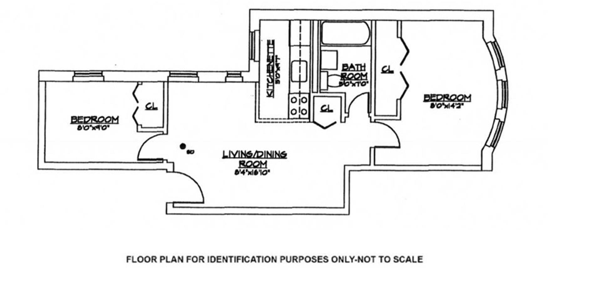 Floor plan of 1062 Bergen St, 2A - Crown Heights, New York