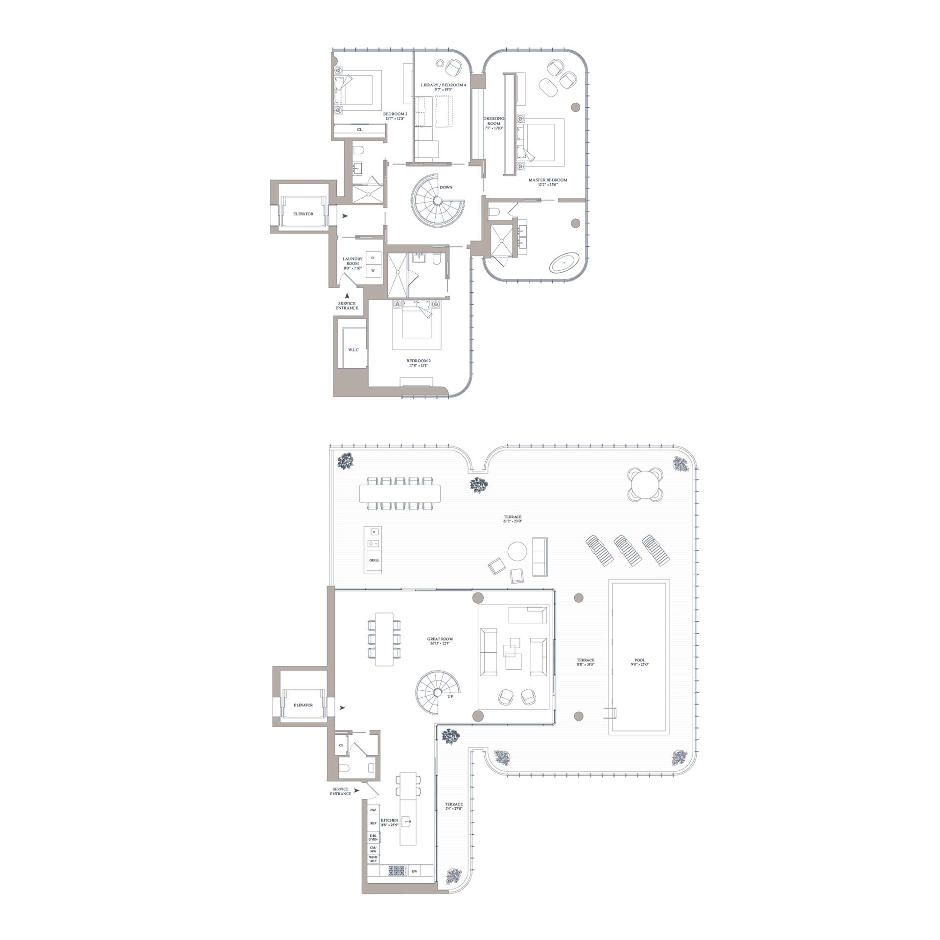 Floor plan of 565 Broome St, N16B - SoHo - Nolita, New York