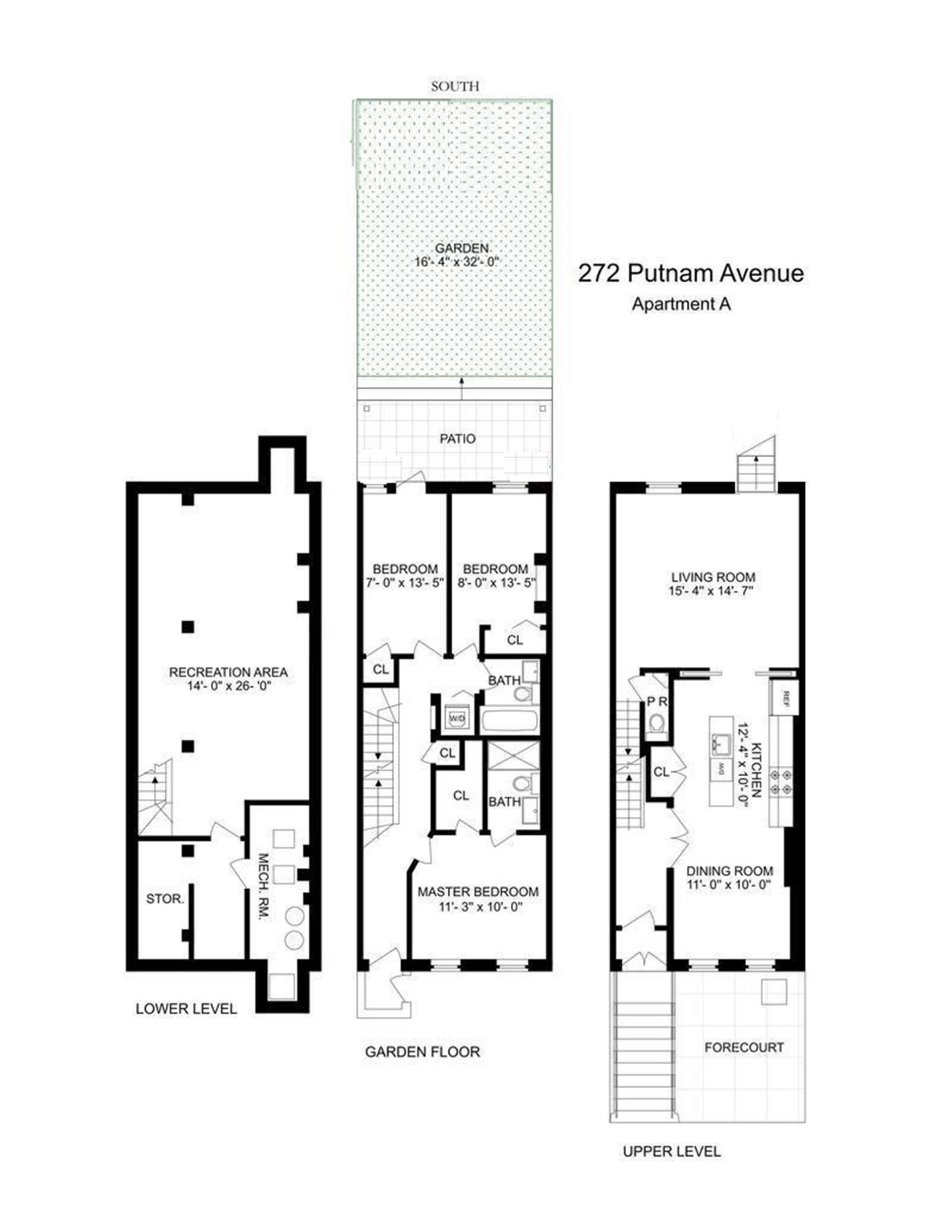Floor plan of 272 Putnam Avenue, A - Bedford - Stuyvesant, New York