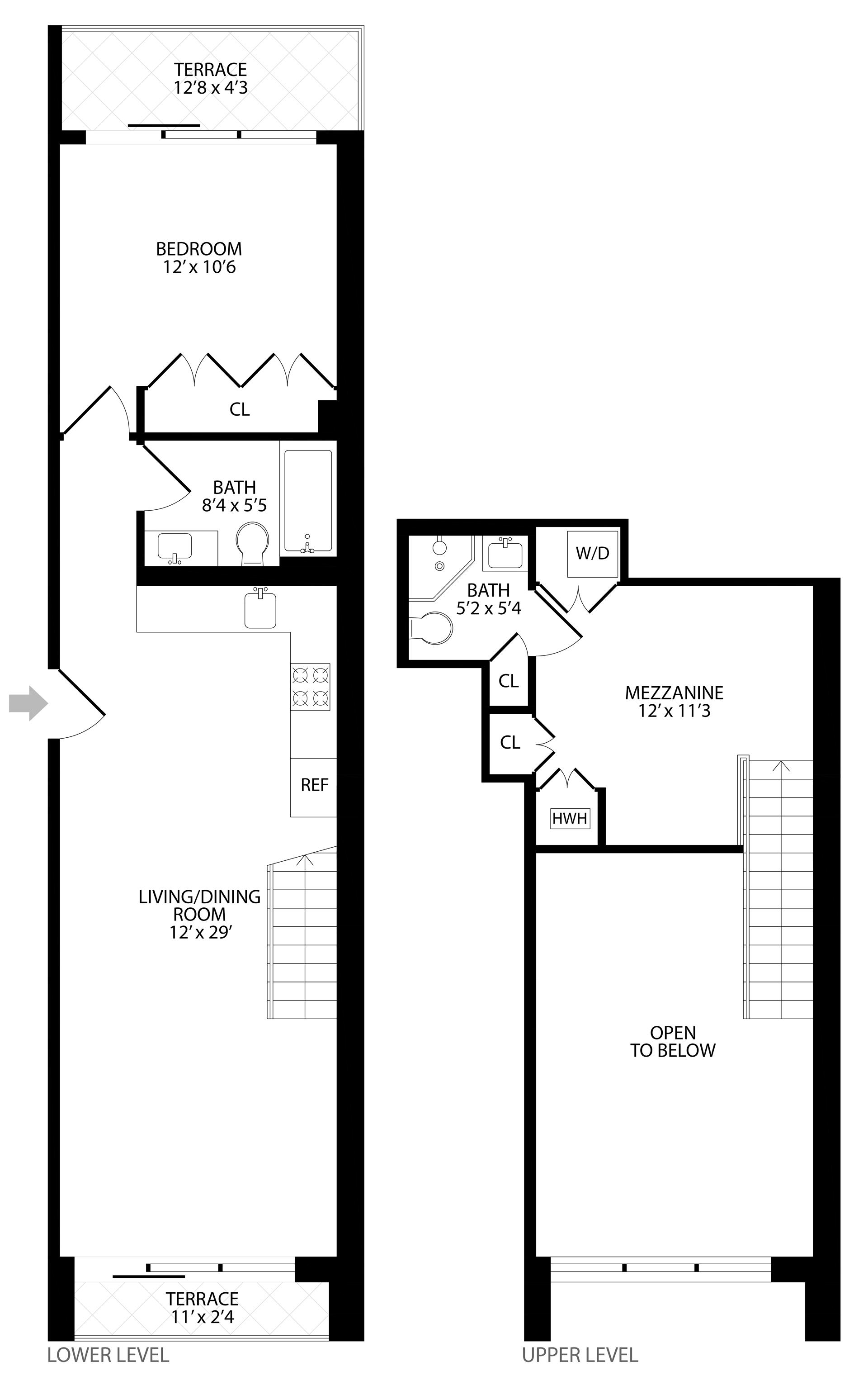 Floor plan of 203 Quincy St, 2C - Bedford - Stuyvesant, New York