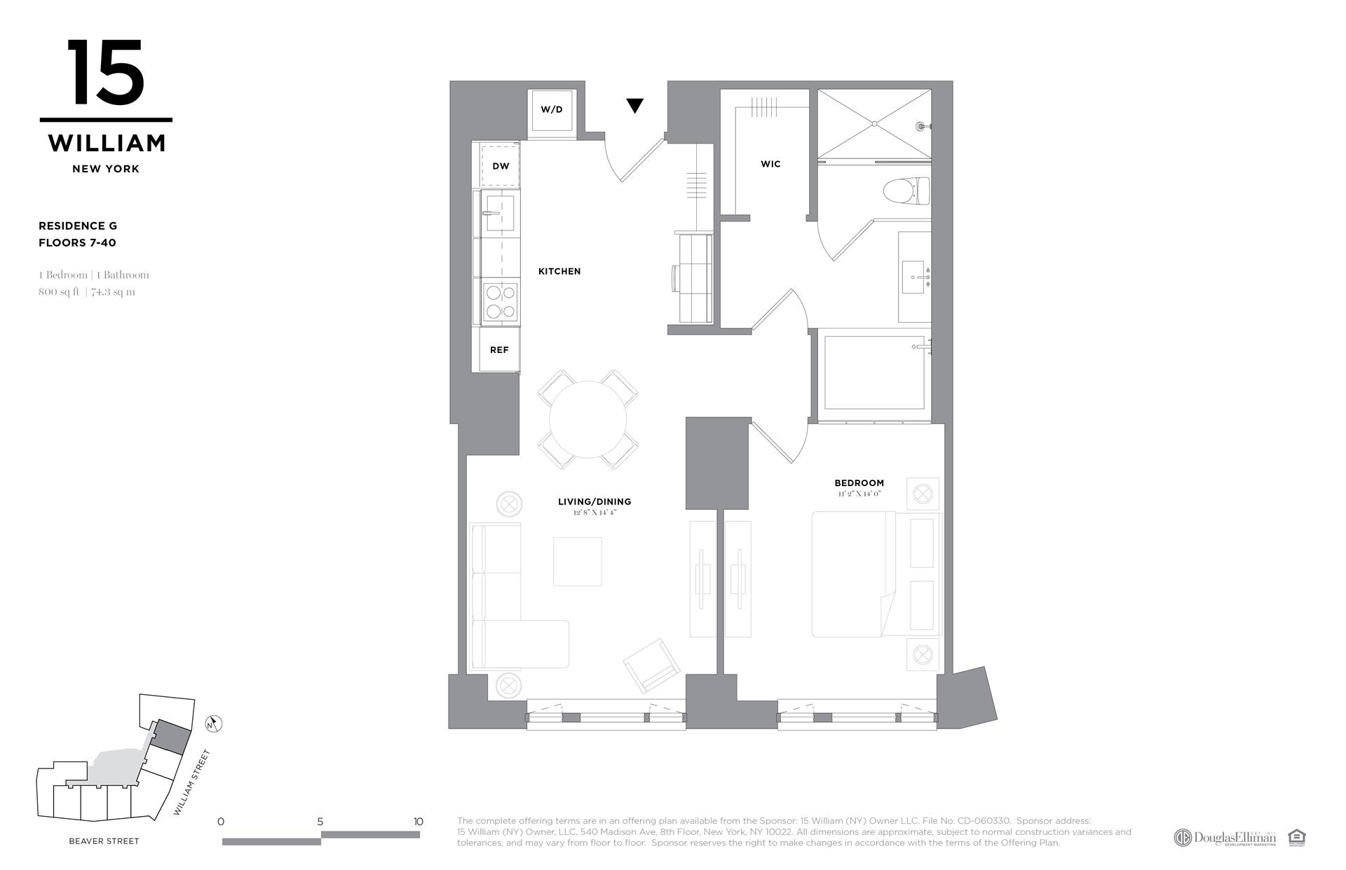 Floor plan of 15 William, 15 William St, 38G - Financial District, New York