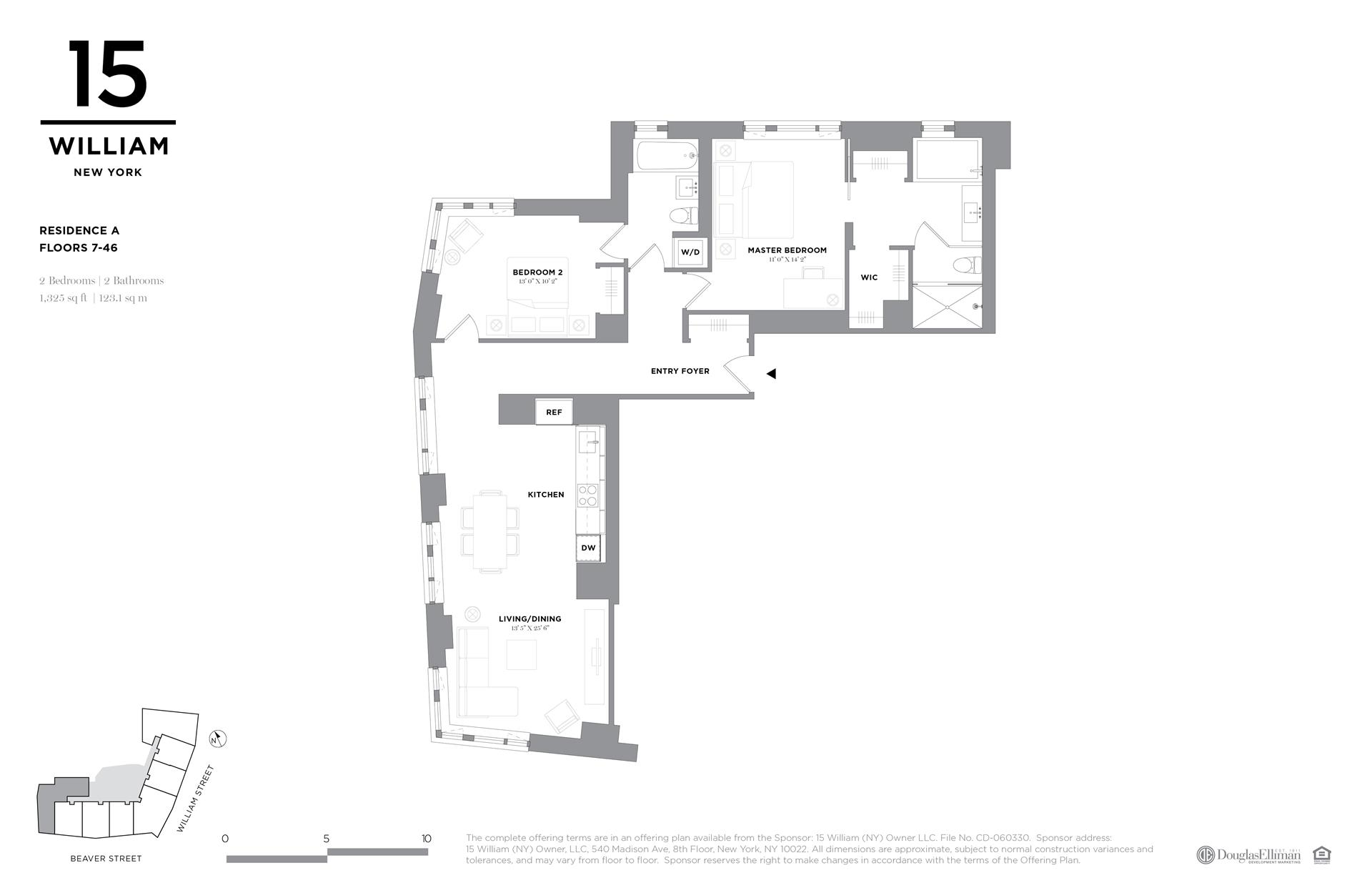 Floor plan of 15 William, 15 William St, 8A - Financial District, New York