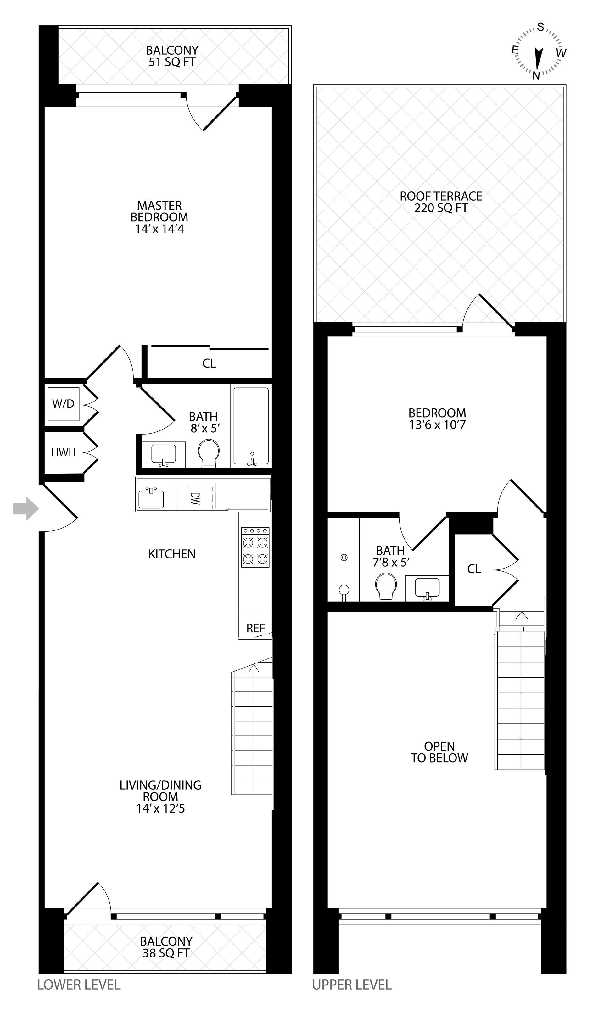 Floor plan of 204 Monroe St, 4C - Bedford - Stuyvesant, New York