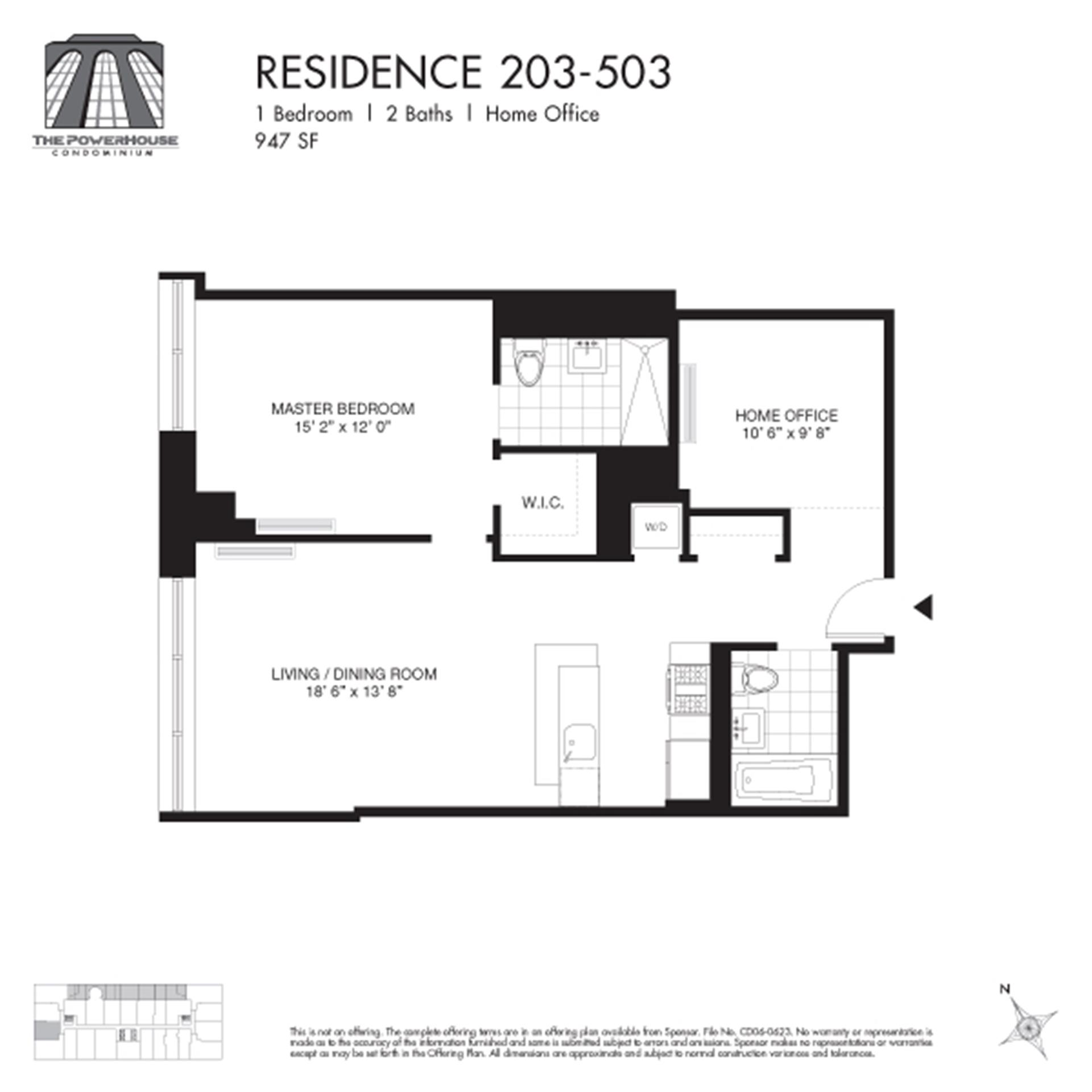 Floor plan of The Powerhouse Condo, 2-17 51st Avenue, 403 - Long Island City, New York