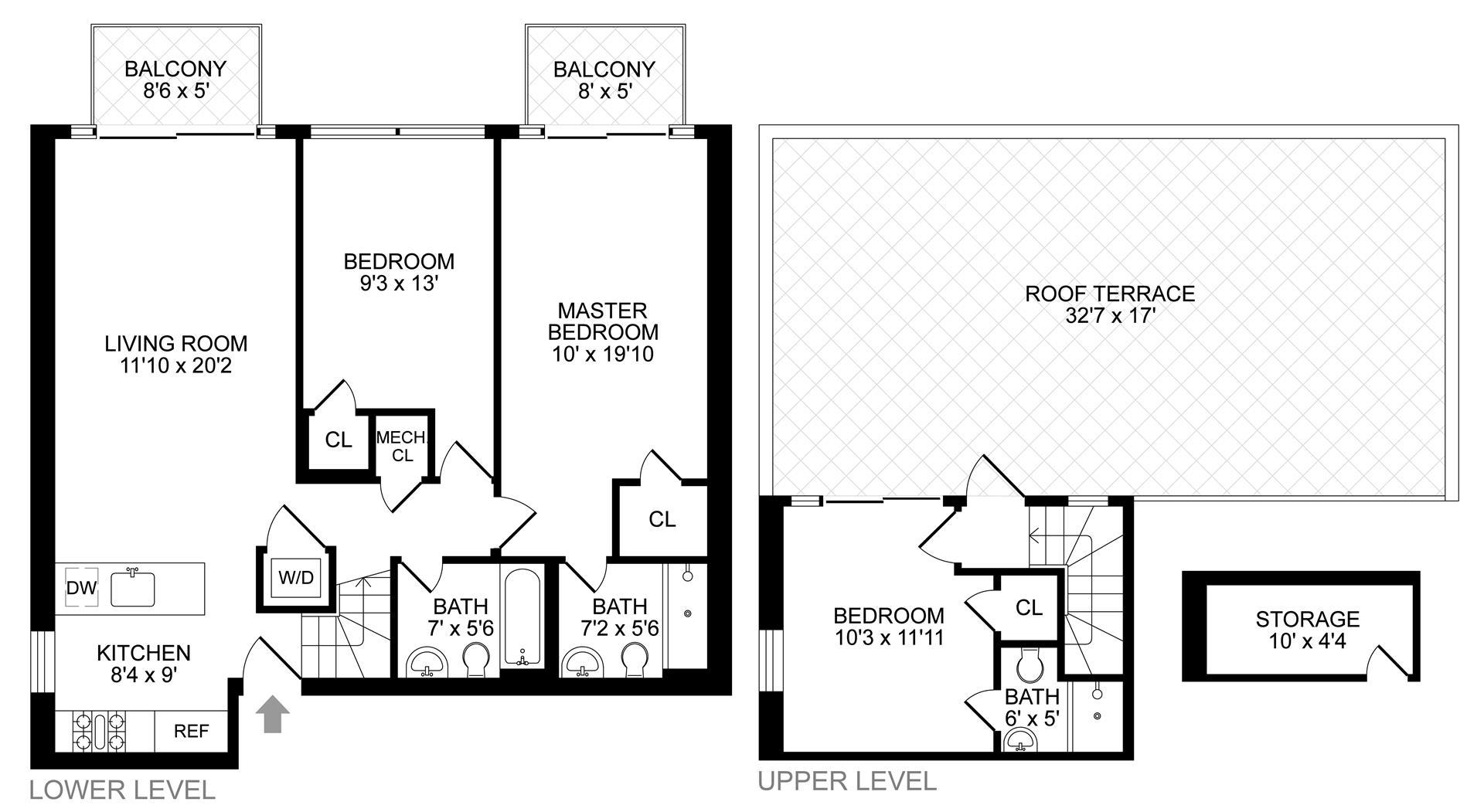 Floor plan of 29 Lexington Avenue, 4B - Clinton Hill, New York