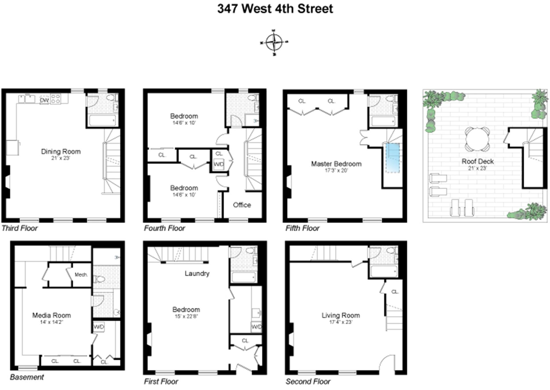 Floor plan of 347 West 4th St - West Village - Meatpacking District, New York