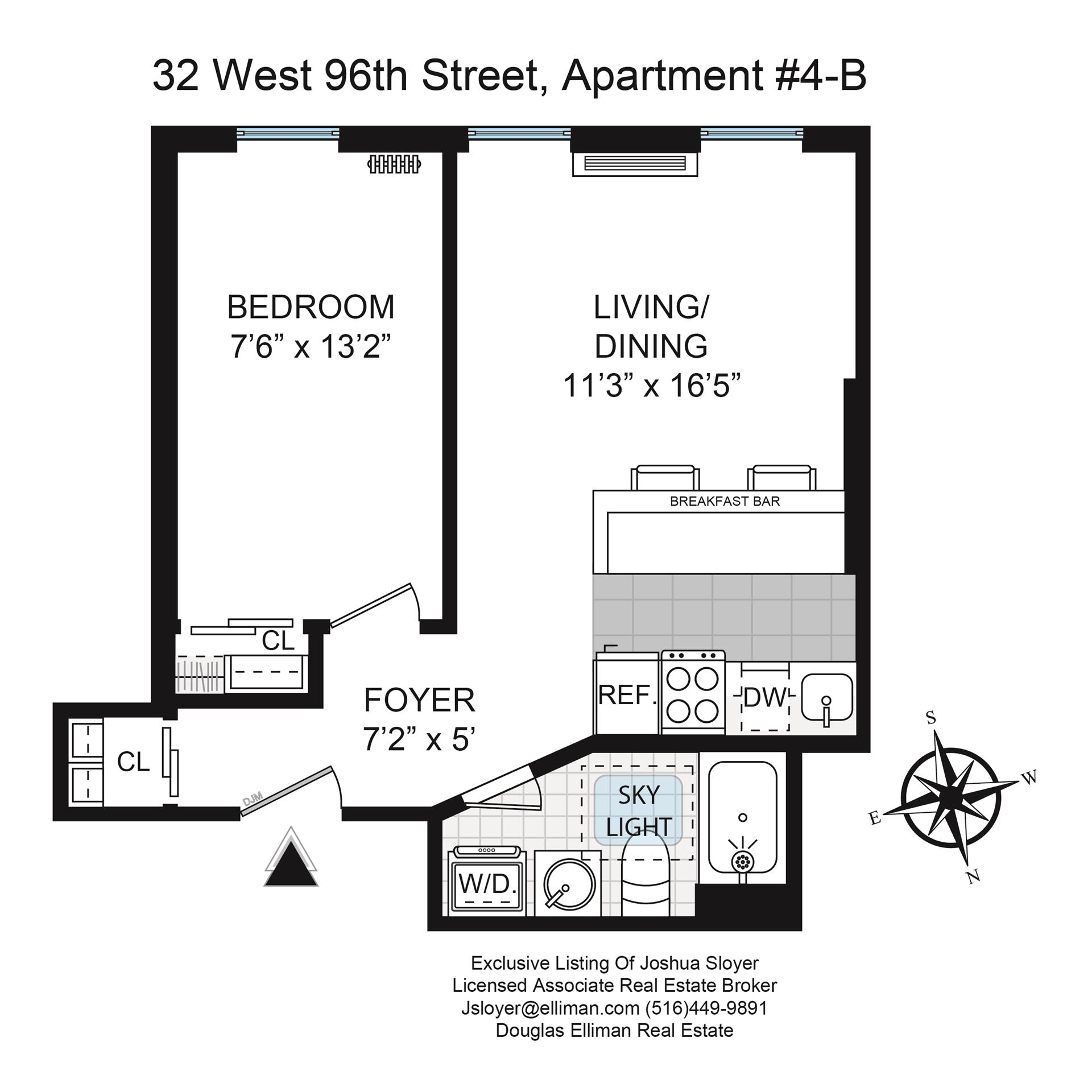 Floor plan of 32 West 96th St, 4B - Upper West Side, New York