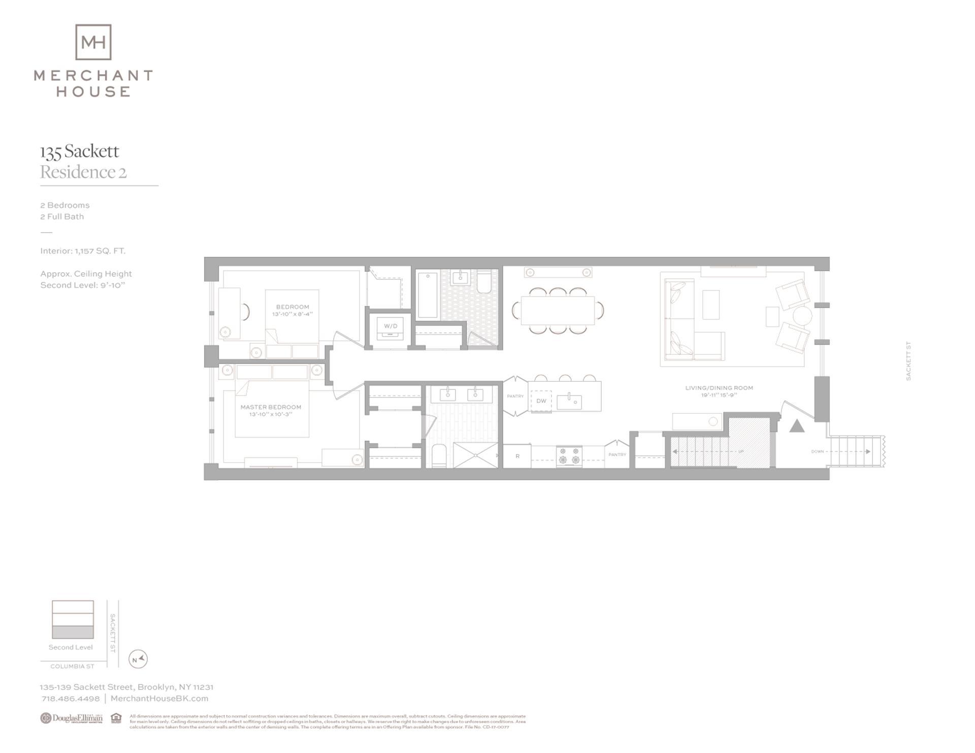 Floor plan of 135-139 Sackett Street, 135/2 - Columbia Street Waterfront District, New York