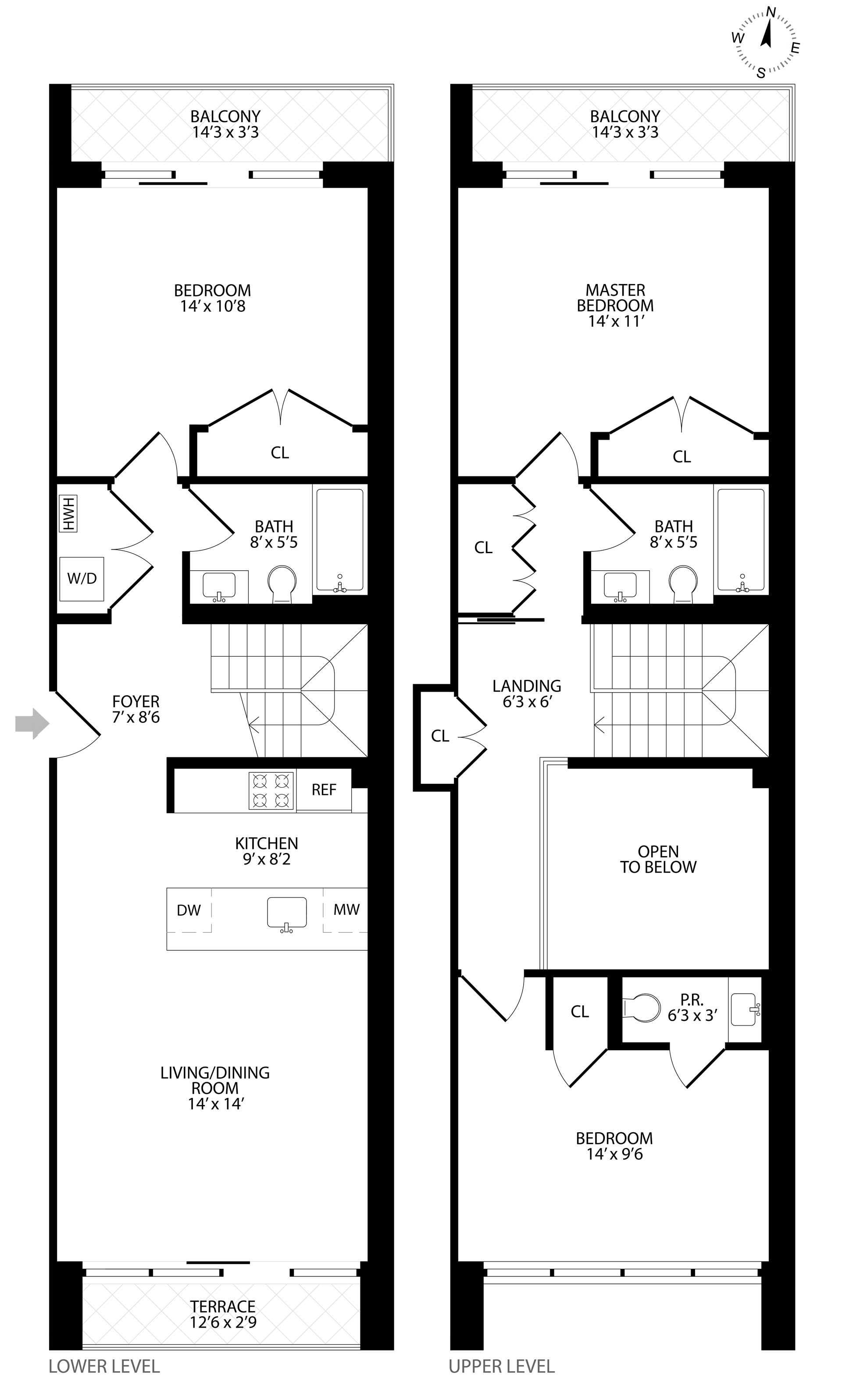 Floor plan of 511 Lafayette Avenue, 2C - Bedford - Stuyvesant, New York
