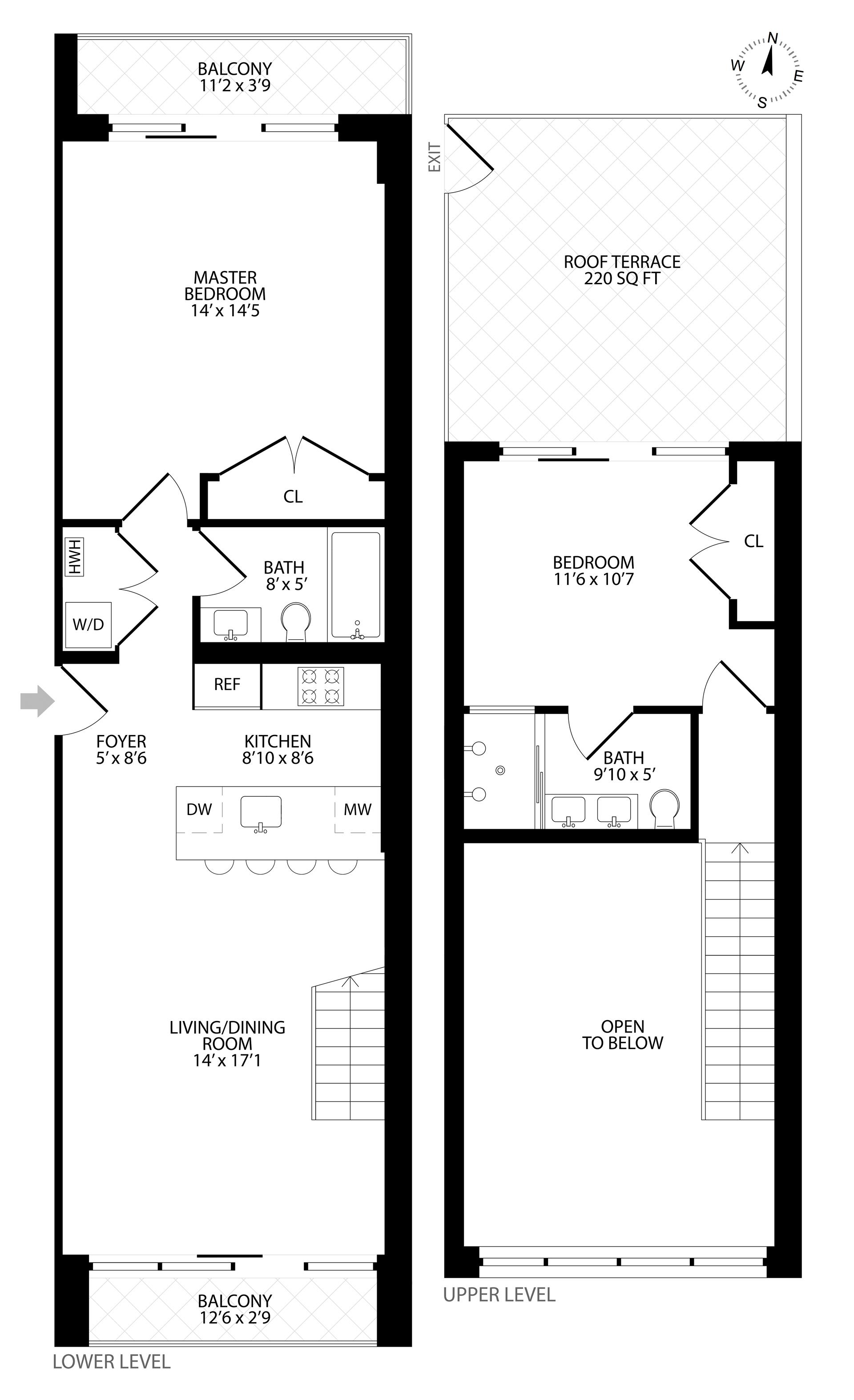 Floor plan of 511 Lafayette Avenue, 4C - Bedford - Stuyvesant, New York