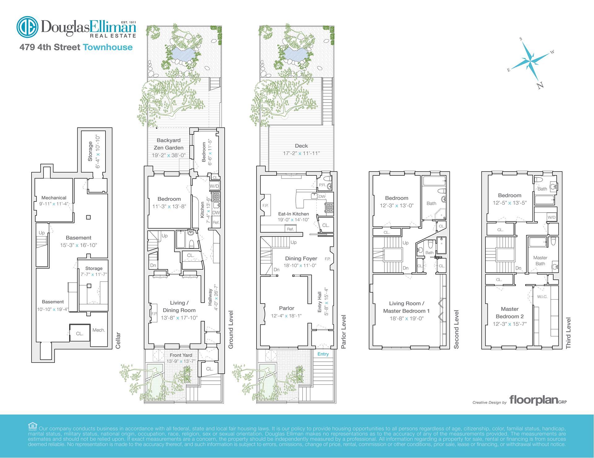 Floor plan of 479 4th St - Park Slope, New York