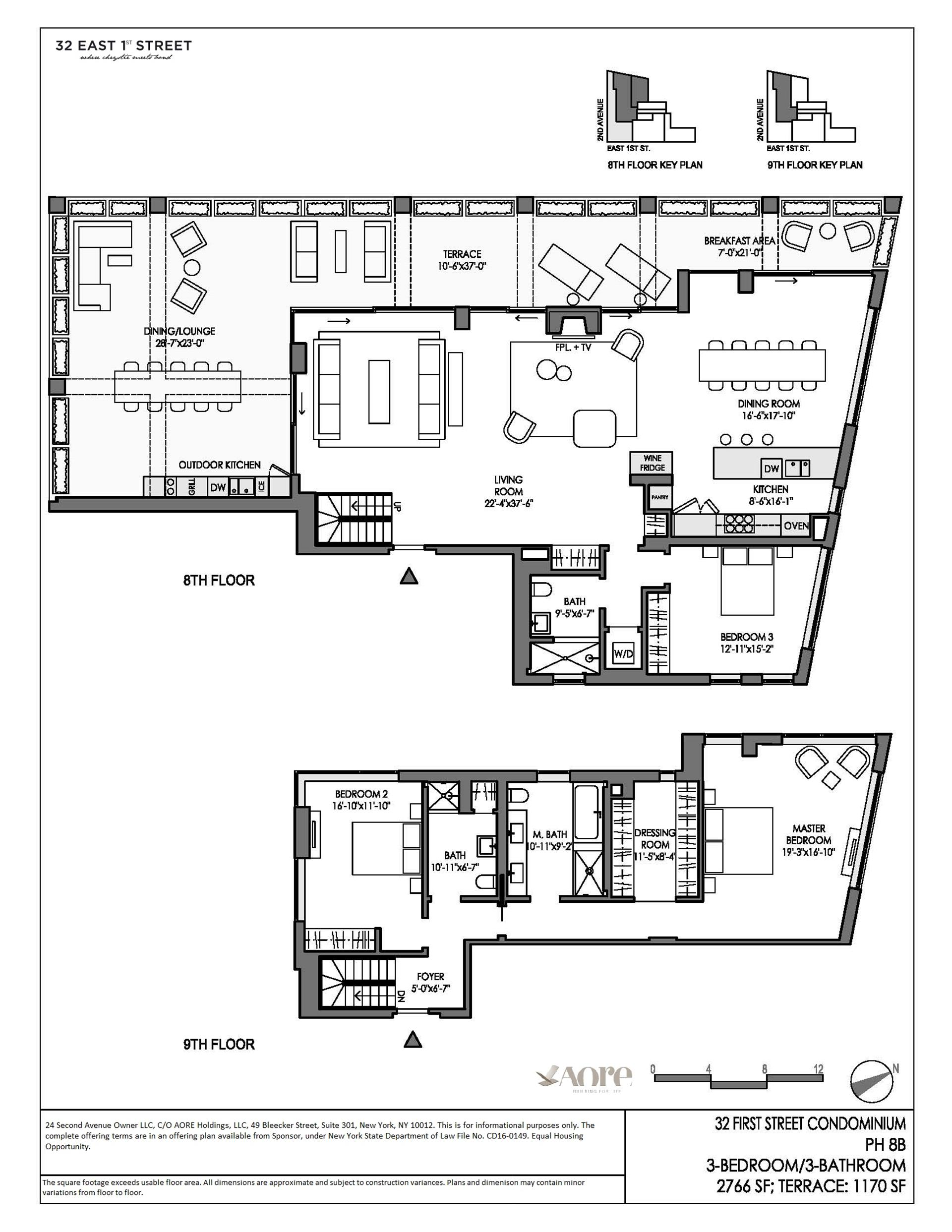 Floor plan of 32 East 1st St, PHB - East Village, New York