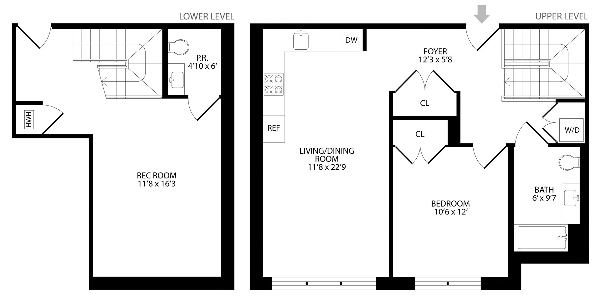 Floor plan of 203 Quincy St, 1A - Bedford - Stuyvesant, New York