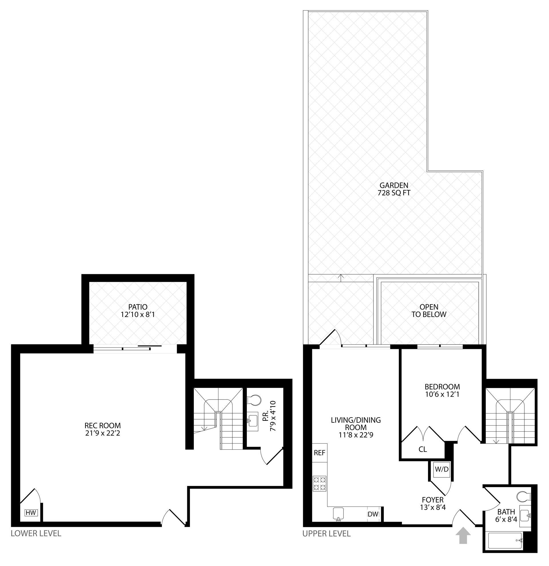 Floor plan of 203 Quincy St, 1B - Bedford - Stuyvesant, New York