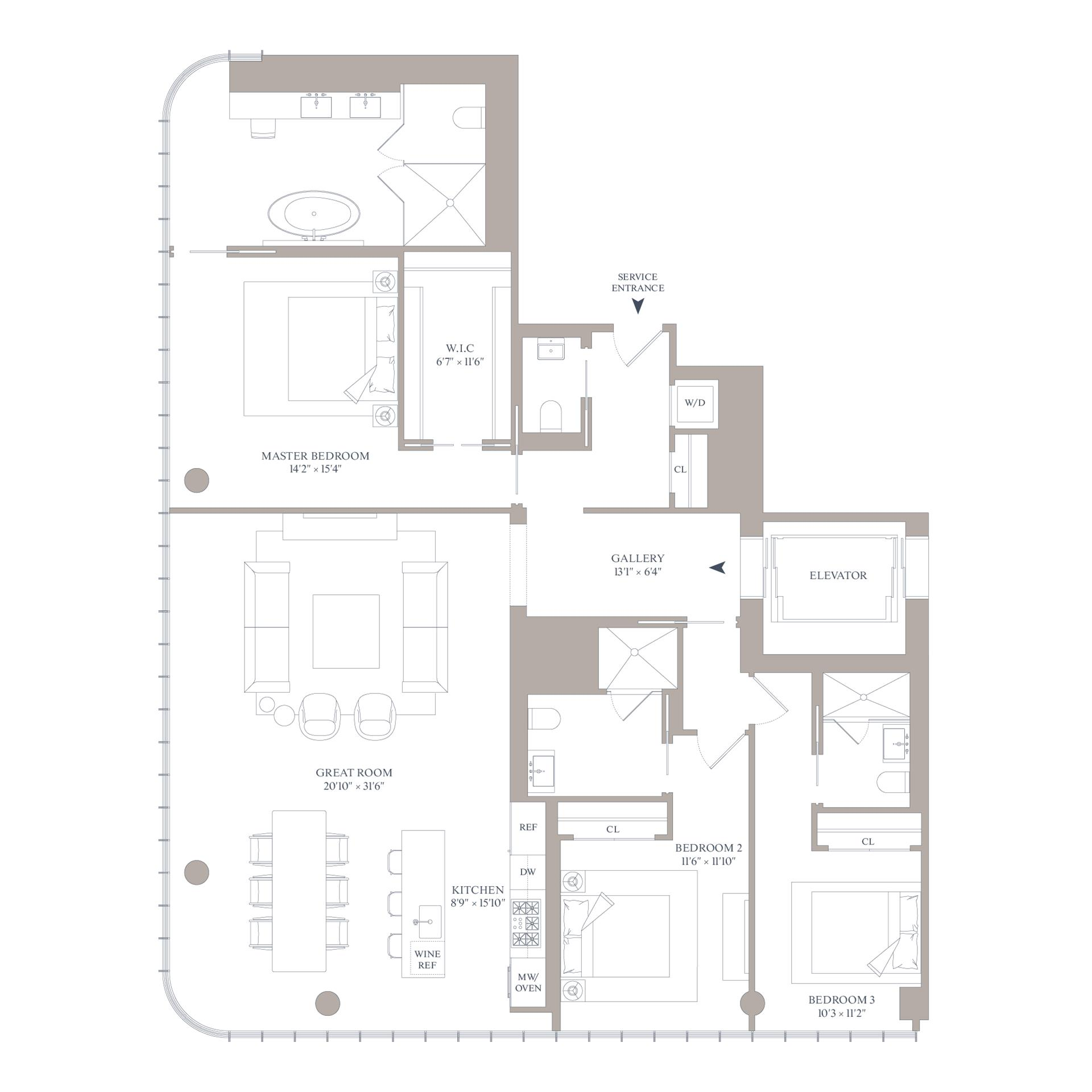 Floor plan of 565 Broome St, S26A - SoHo - Nolita, New York