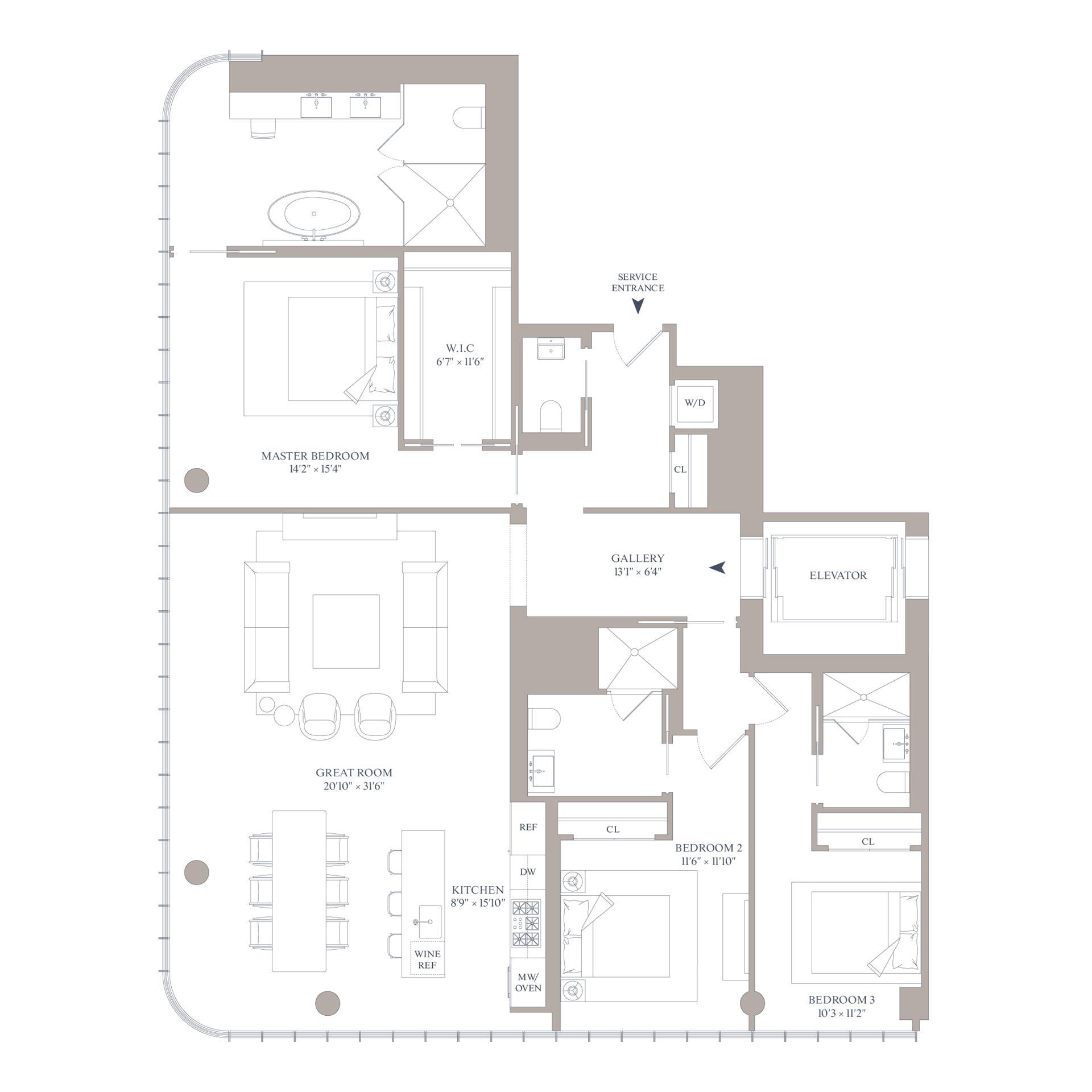 Floor plan of 565 Broome Street, S26A - SoHo - Nolita, New York