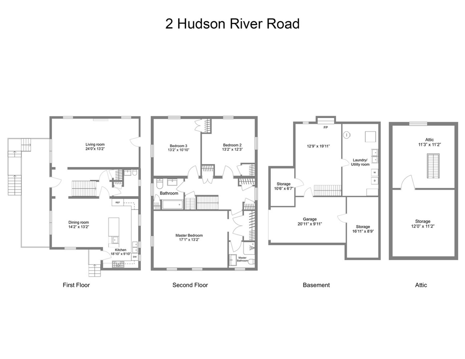 Floor plan of 2 Hudson River Rd - North Riverdale, New York