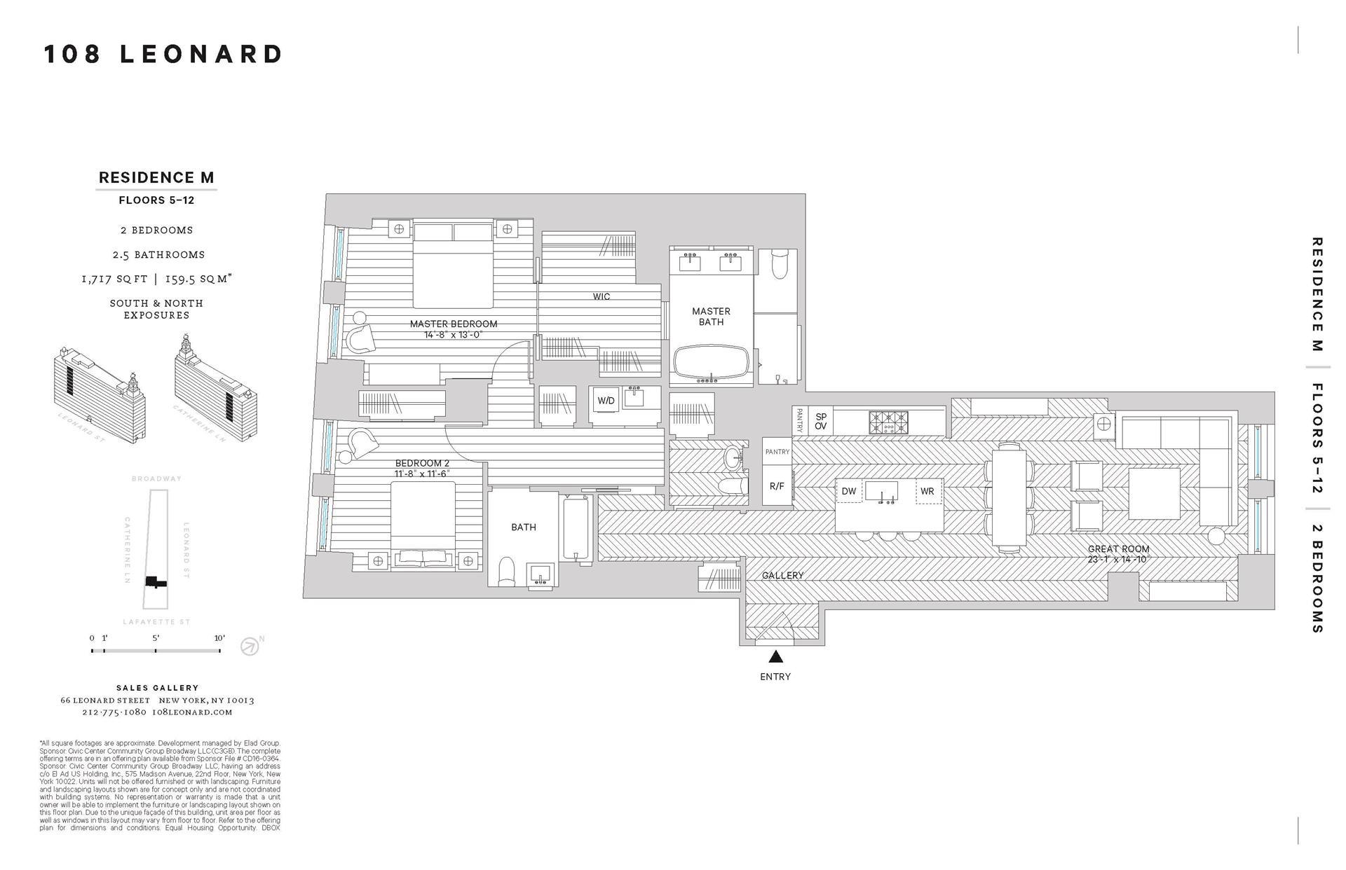 Floor plan of 108 Leonard St, 7M - TriBeCa, New York