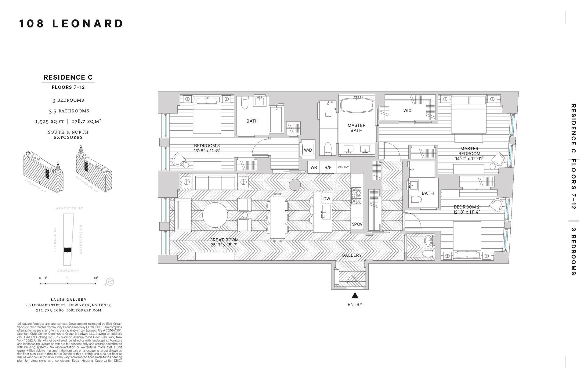 Floor plan of 108 Leonard St, 8C - TriBeCa, New York