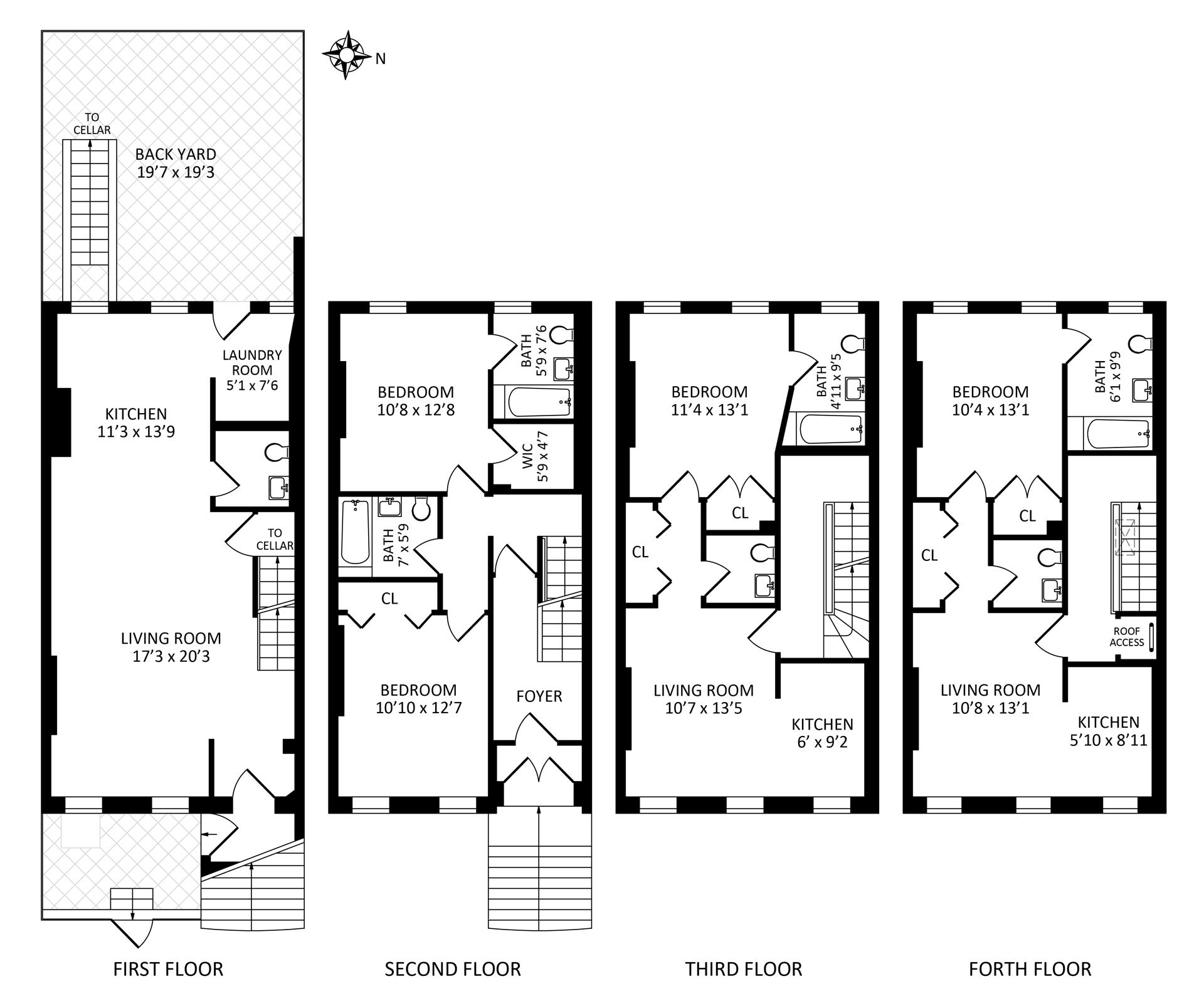 Floor plan of 48 St Felix St - Fort Greene, New York