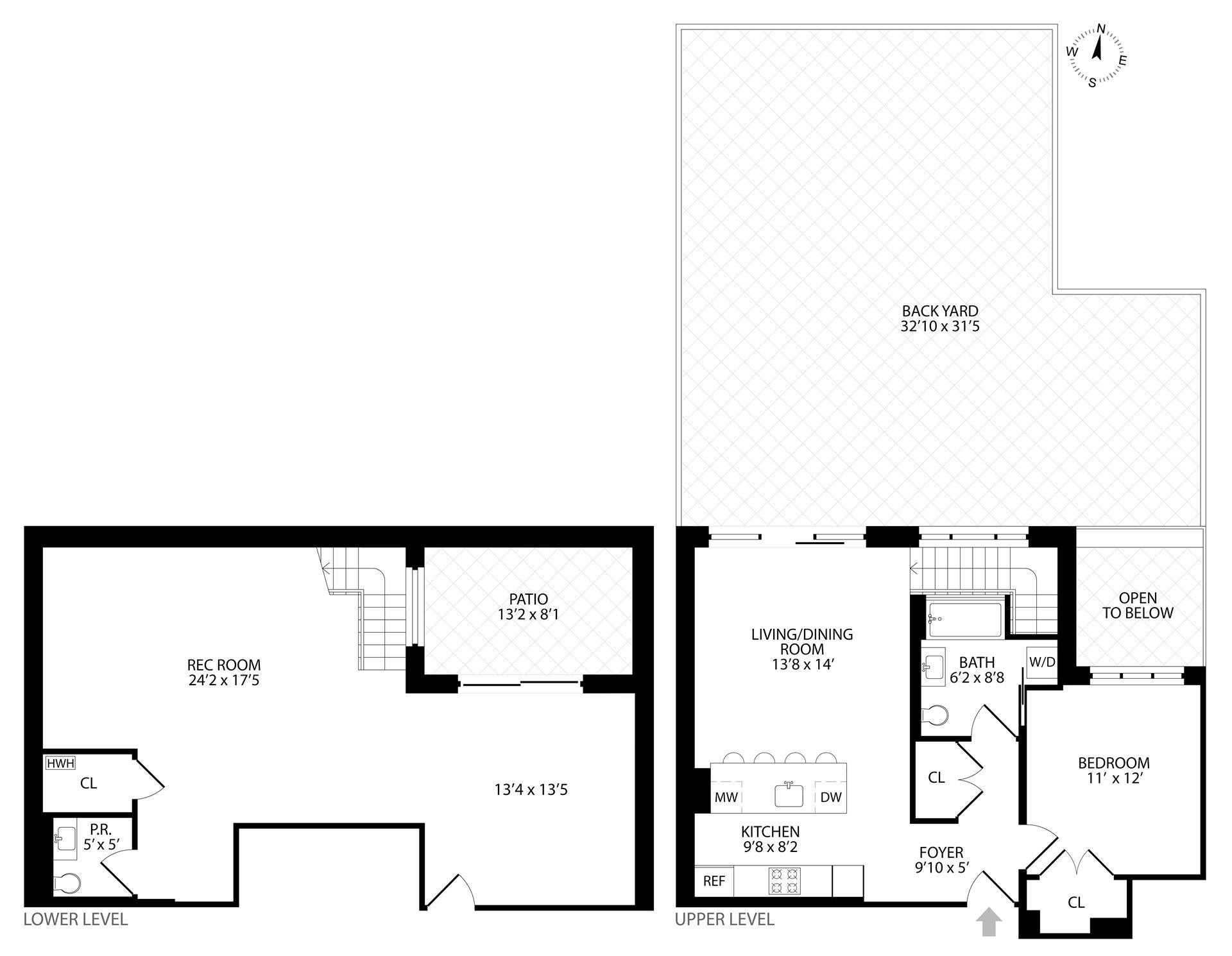 Floor plan of 511 Lafayette Avenue, 1B - Bedford - Stuyvesant, New York