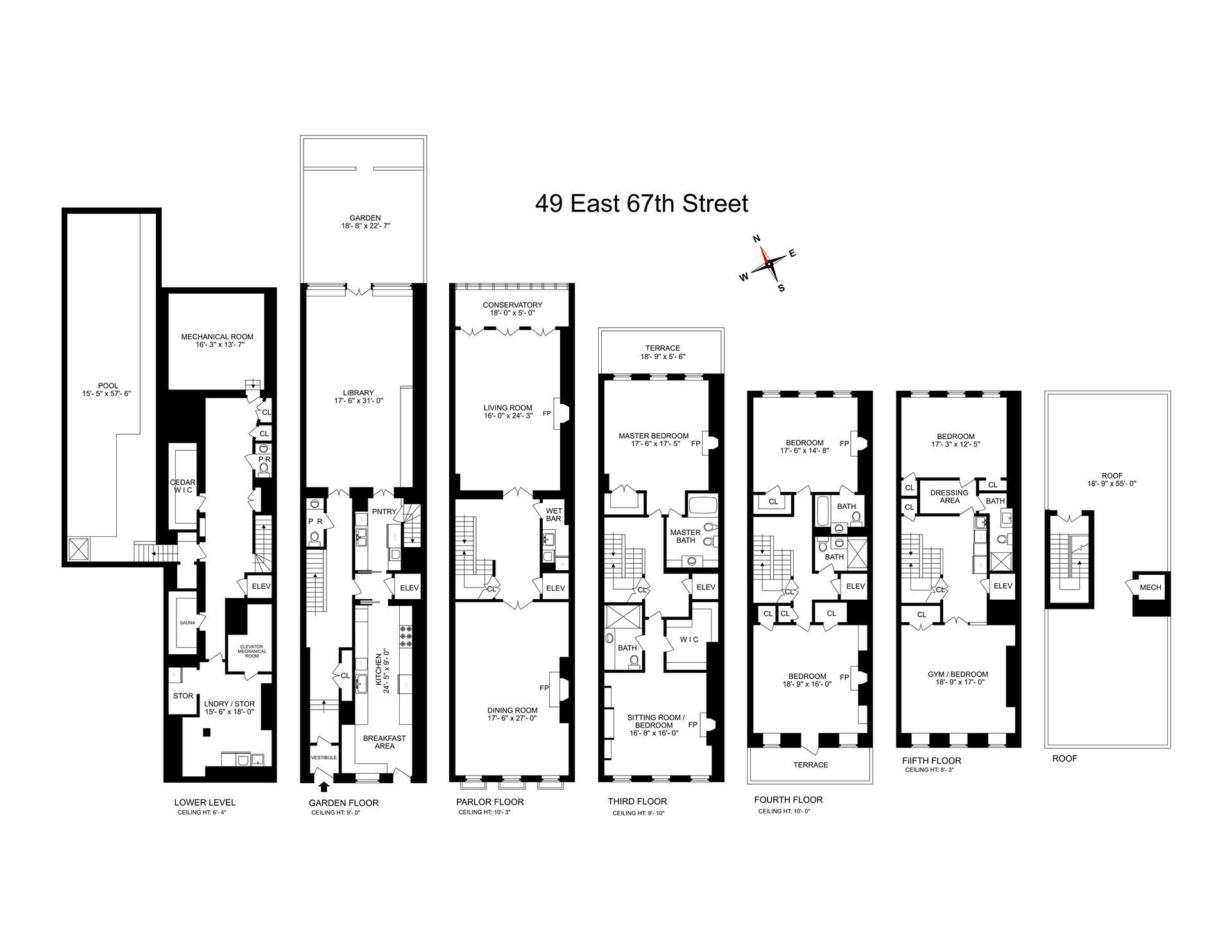 Floor plan of 49 East 67th St - Upper East Side, New York