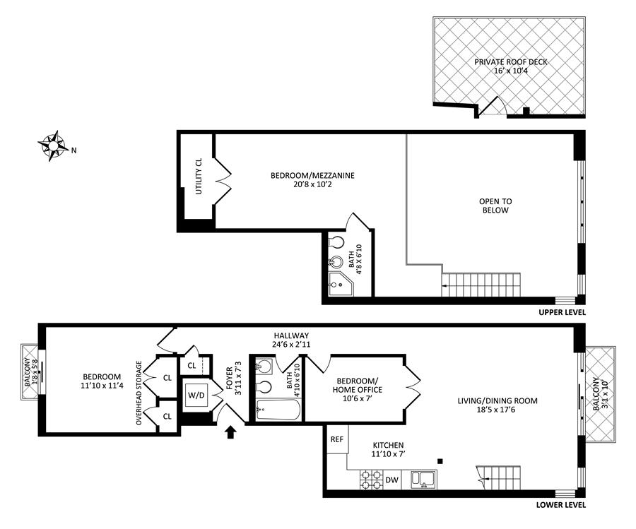 Floor plan of 69 Stagg Street, 2A