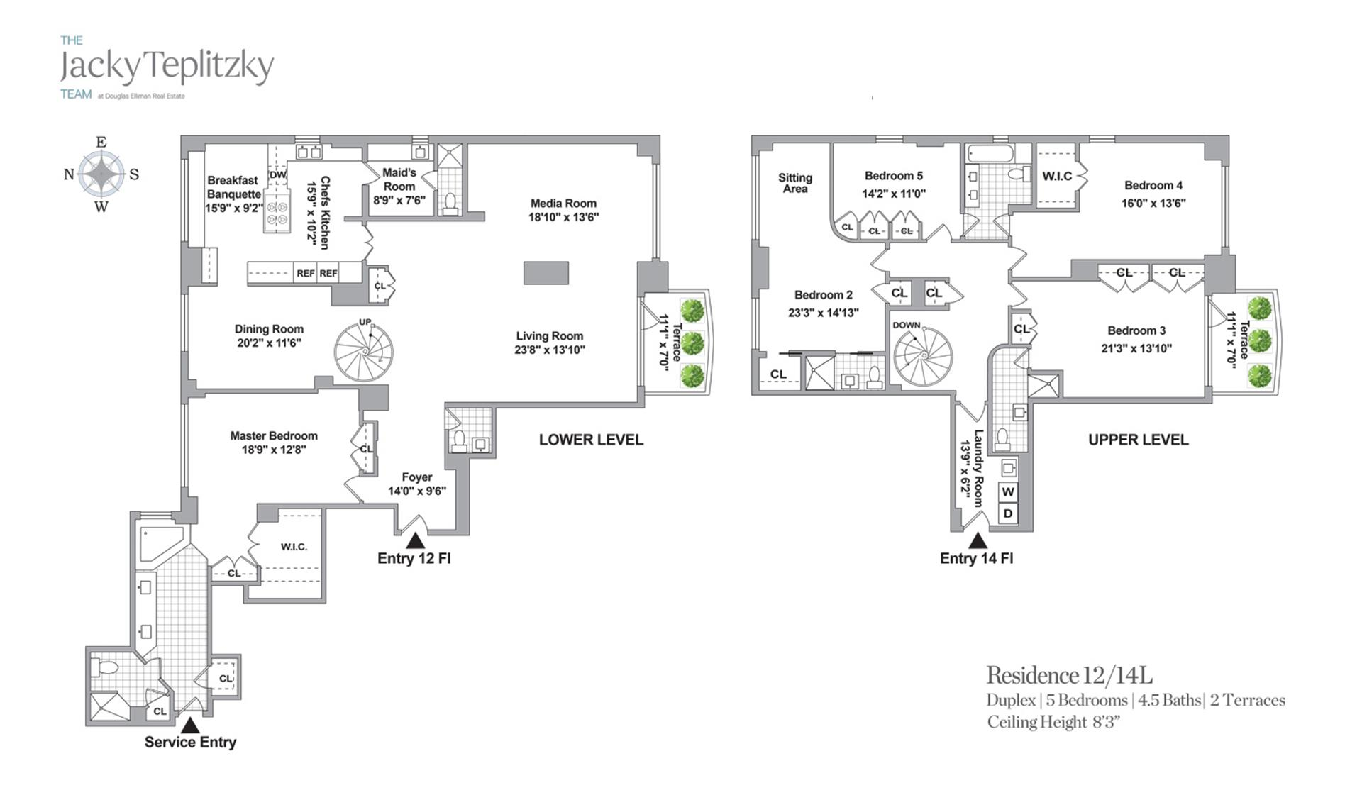 Floor plan of 303 East 57th St, 12/14L - Midtown, New York
