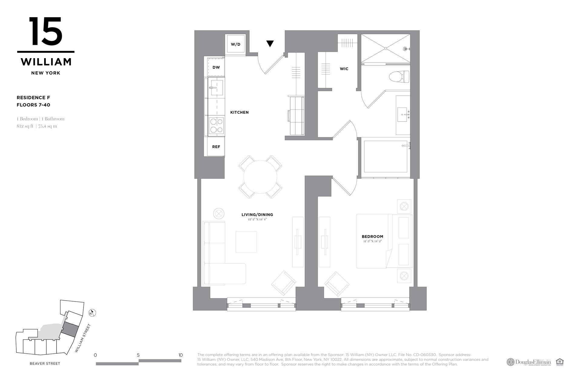 Floor plan of 15 William, 15 William St, 29F - Financial District, New York