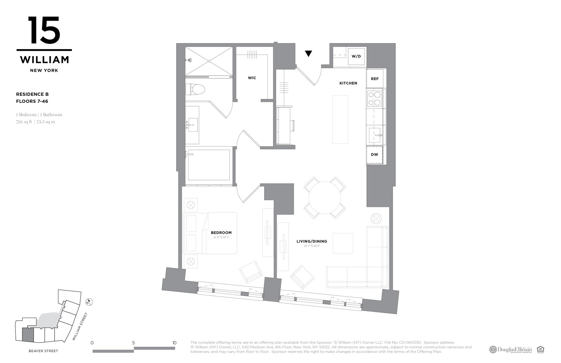 Floor plan of 15 William, 15 William St, 43B - Financial District, New York