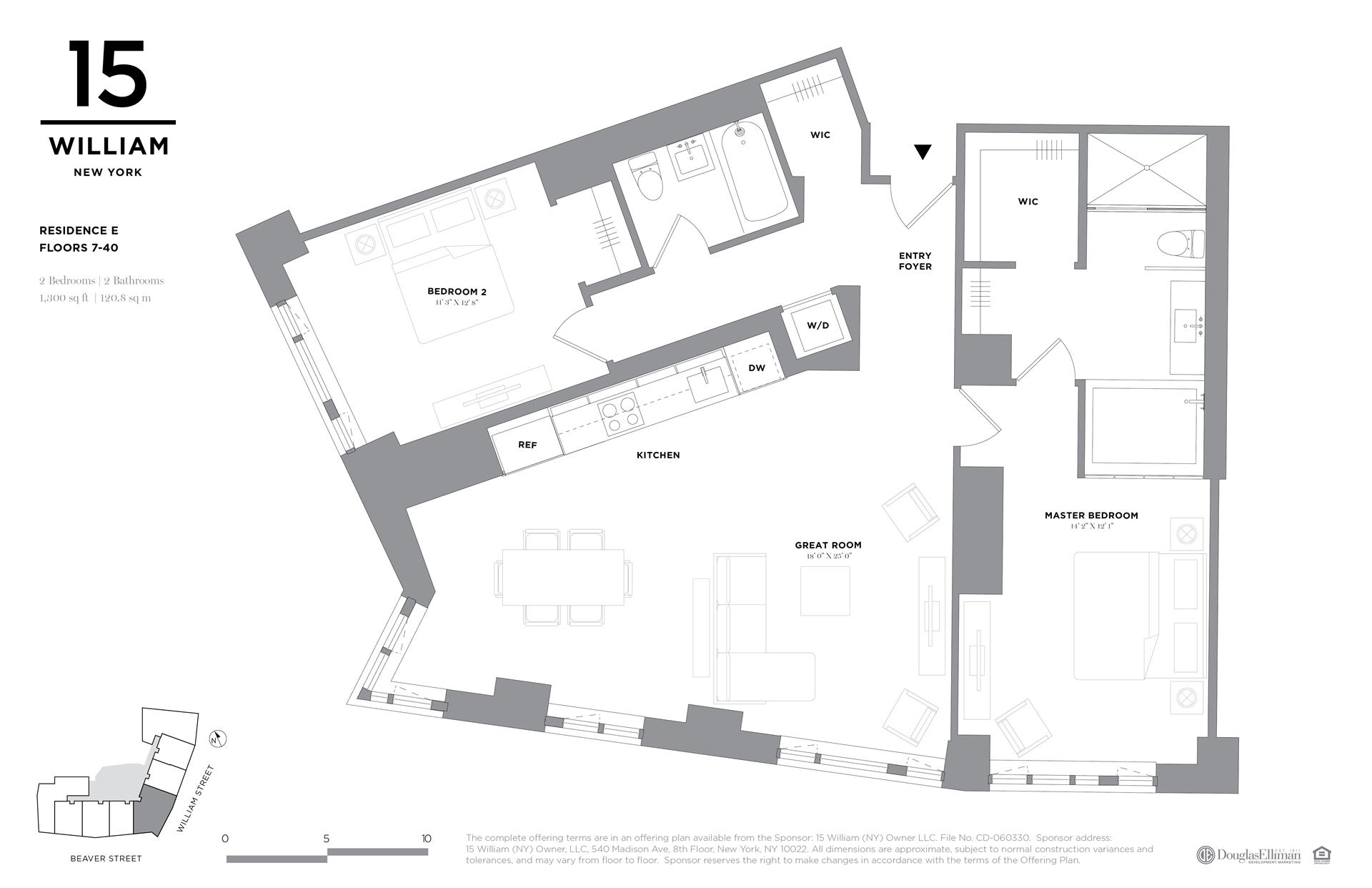 Floor plan of 15 William, 15 William St, 26E - Financial District, New York