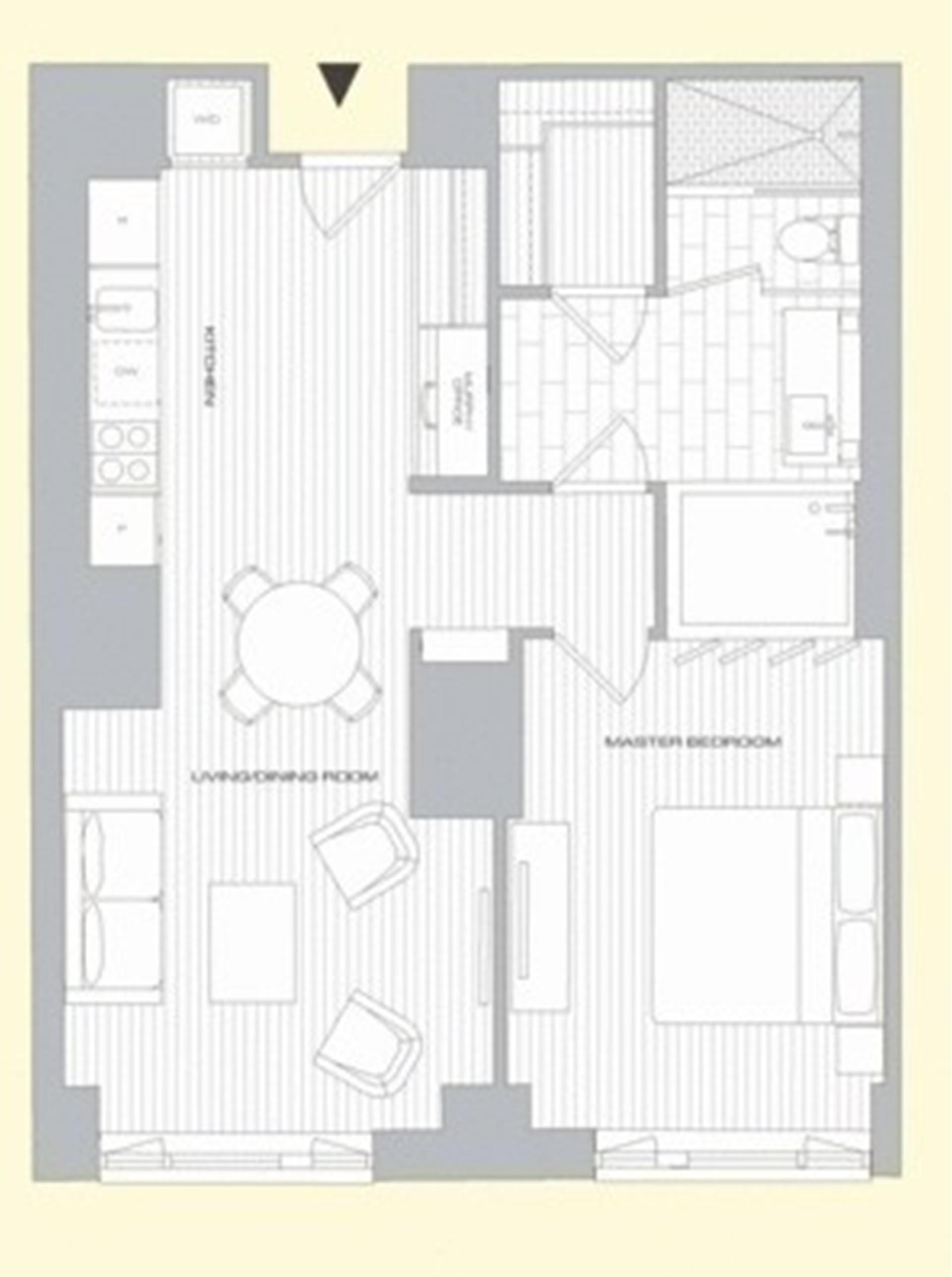 Floor plan of 15 William, 15 William St, 31G - Financial District, New York
