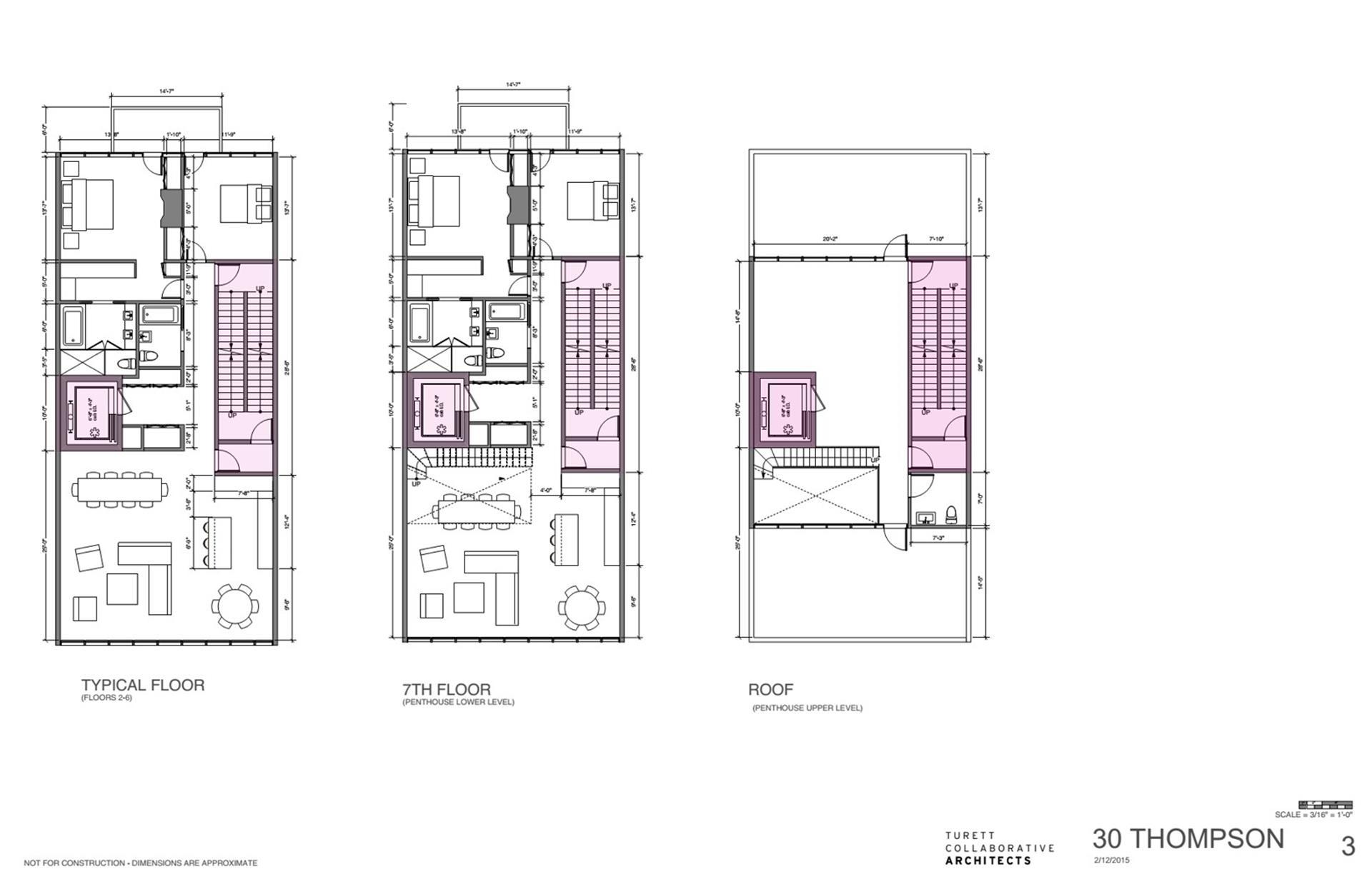 Floor plan of 30 Thompson St - SoHo - Nolita, New York