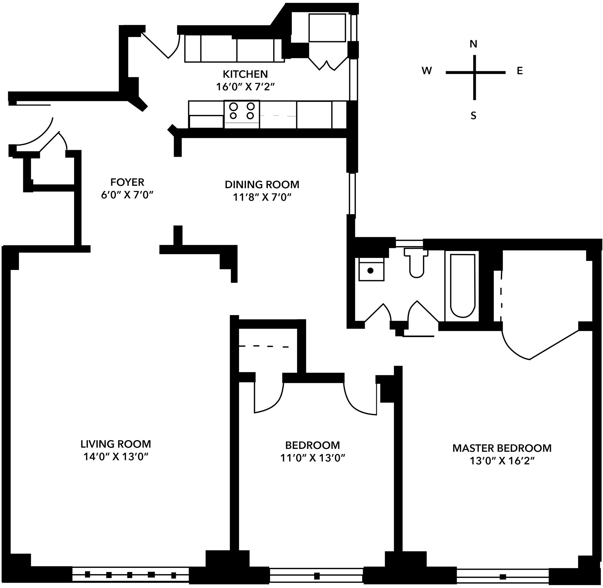 Floor plan of 325 Tenants Corp., 325 East 57th St, 9BSTU4 - Midtown, New York