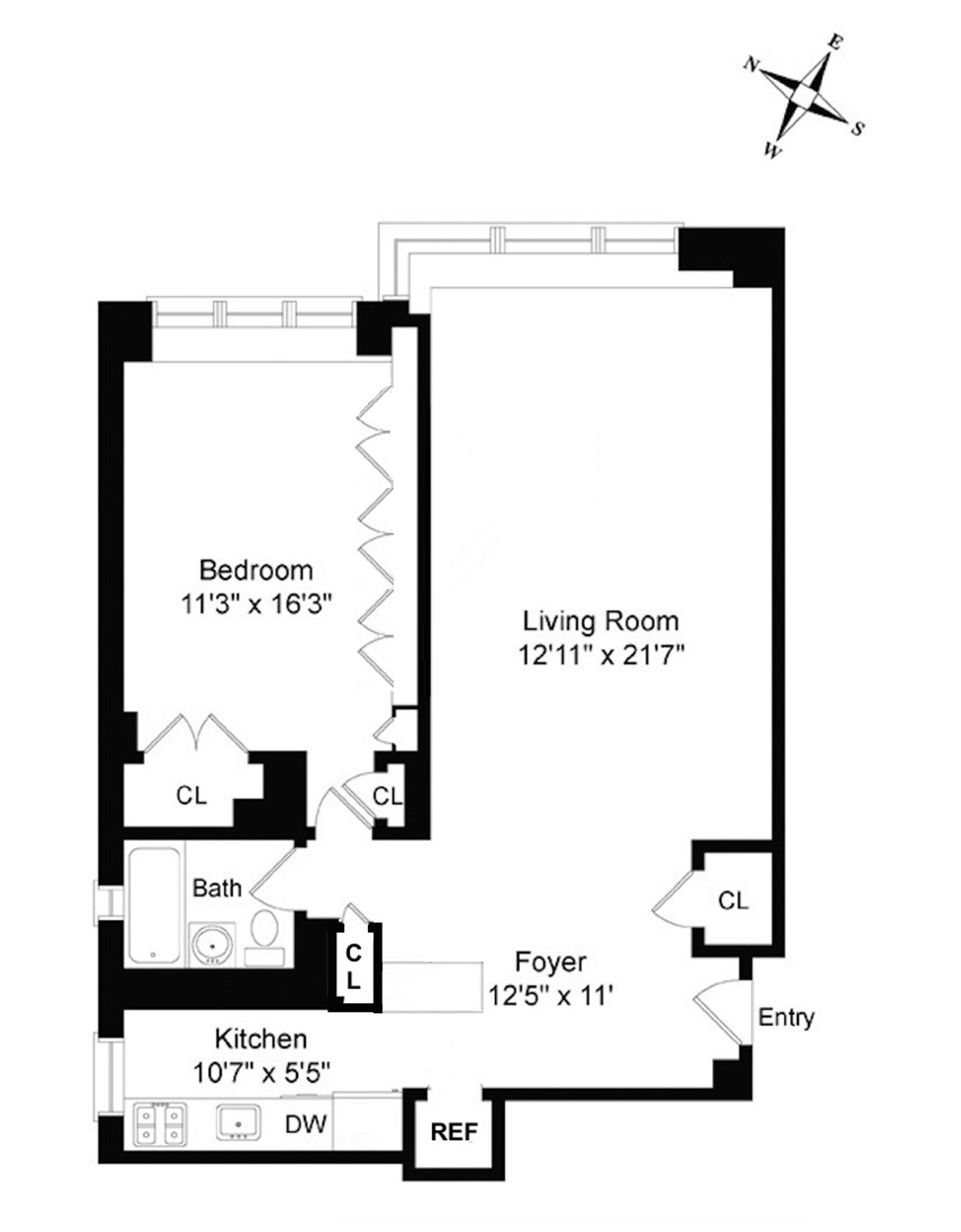 Floor plan of 405 East 63rd St, 5L - Upper East Side, New York