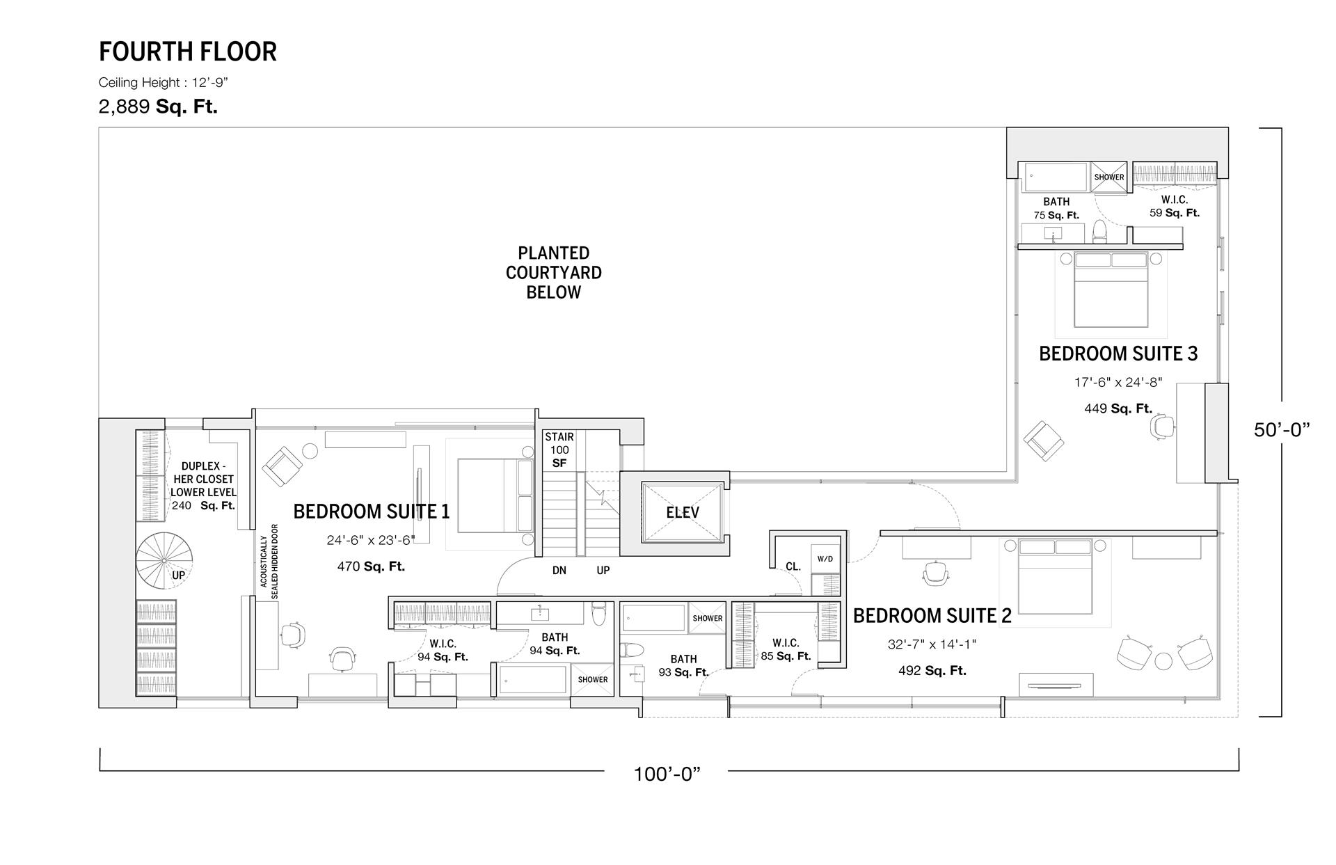Floor plan of 11 Hubert St - TriBeCa, New York
