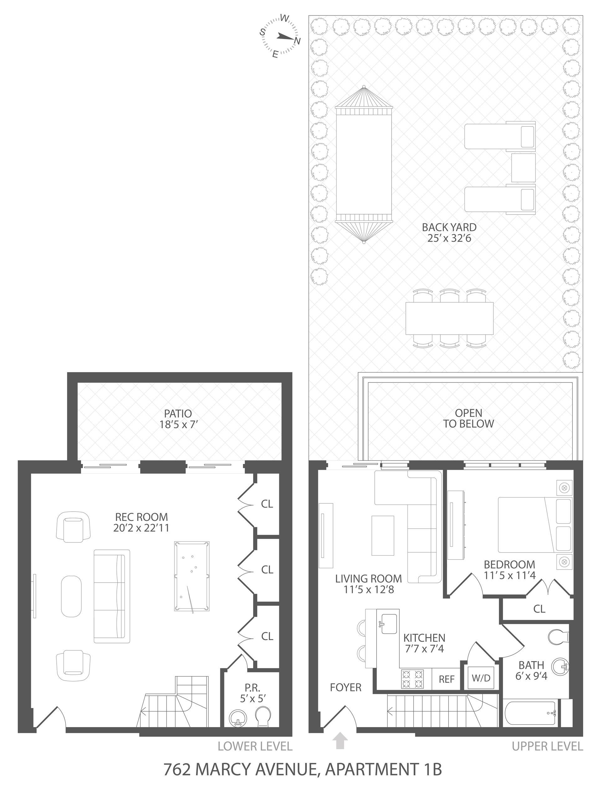 Floor plan of 762 Marcy Avenue, 1B - Bedford - Stuyvesant, New York