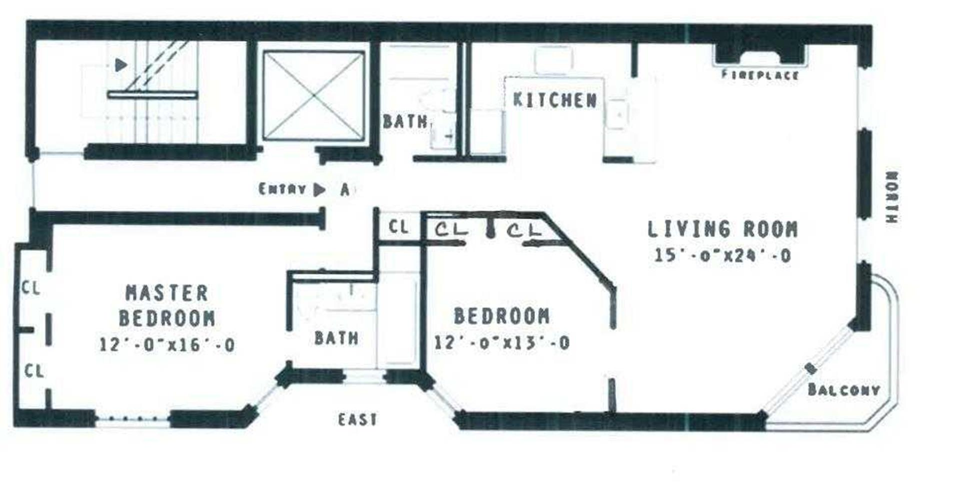 Floor plan of 8 West 65th St, 3A - Lincoln Square, New York